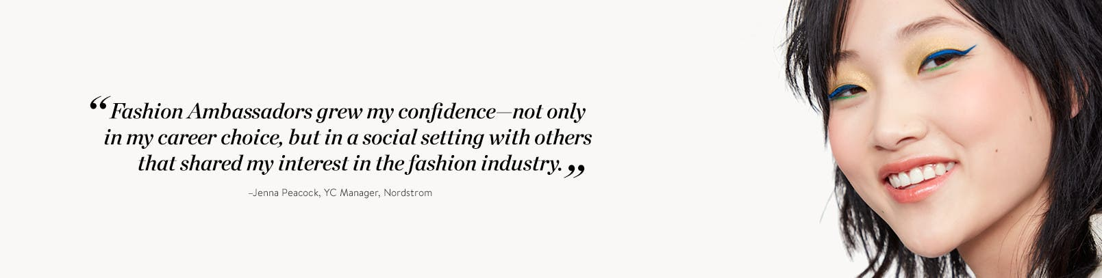 Quote from former Fashion Ambassador