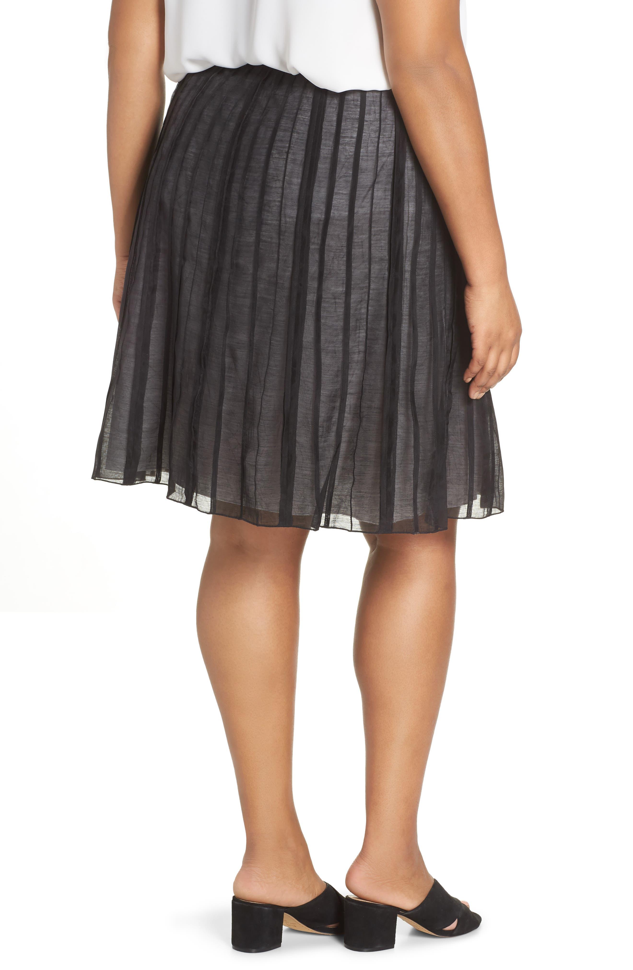 Batiste Flirt Skirt,                             Alternate thumbnail 2, color,                             BLACK ONYX