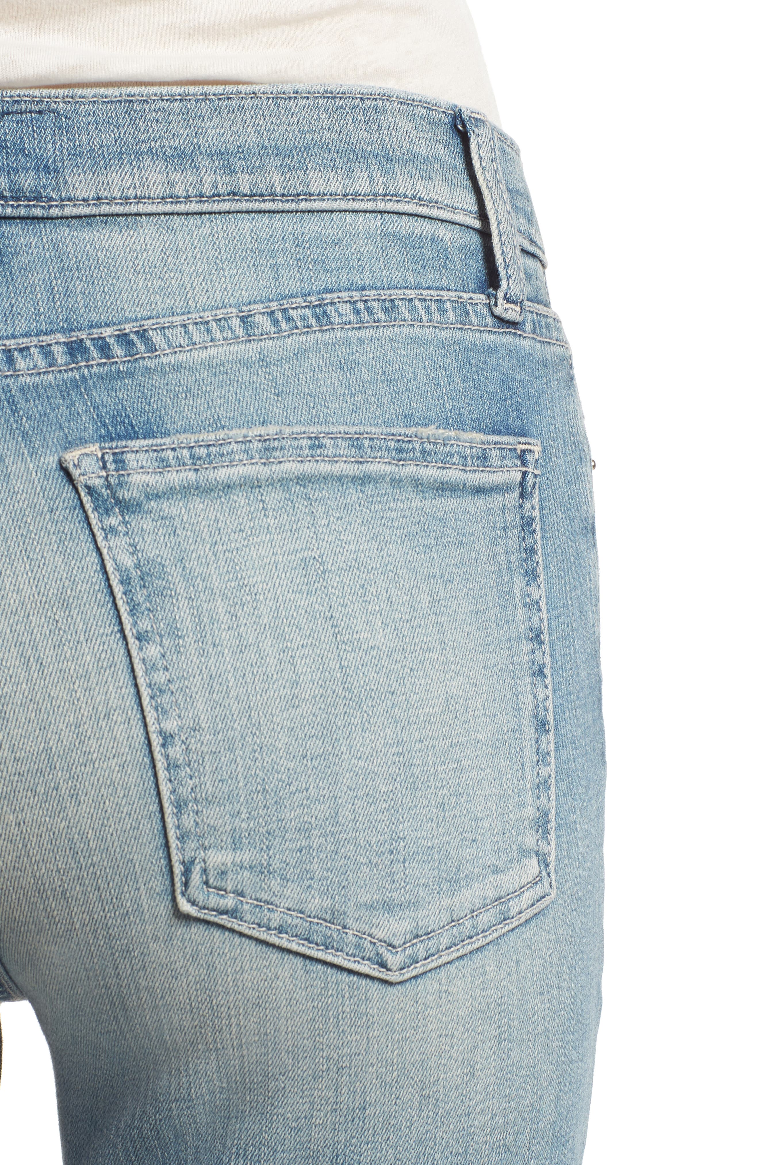 The High Waist Straight Jeans,                             Alternate thumbnail 4, color,                             475