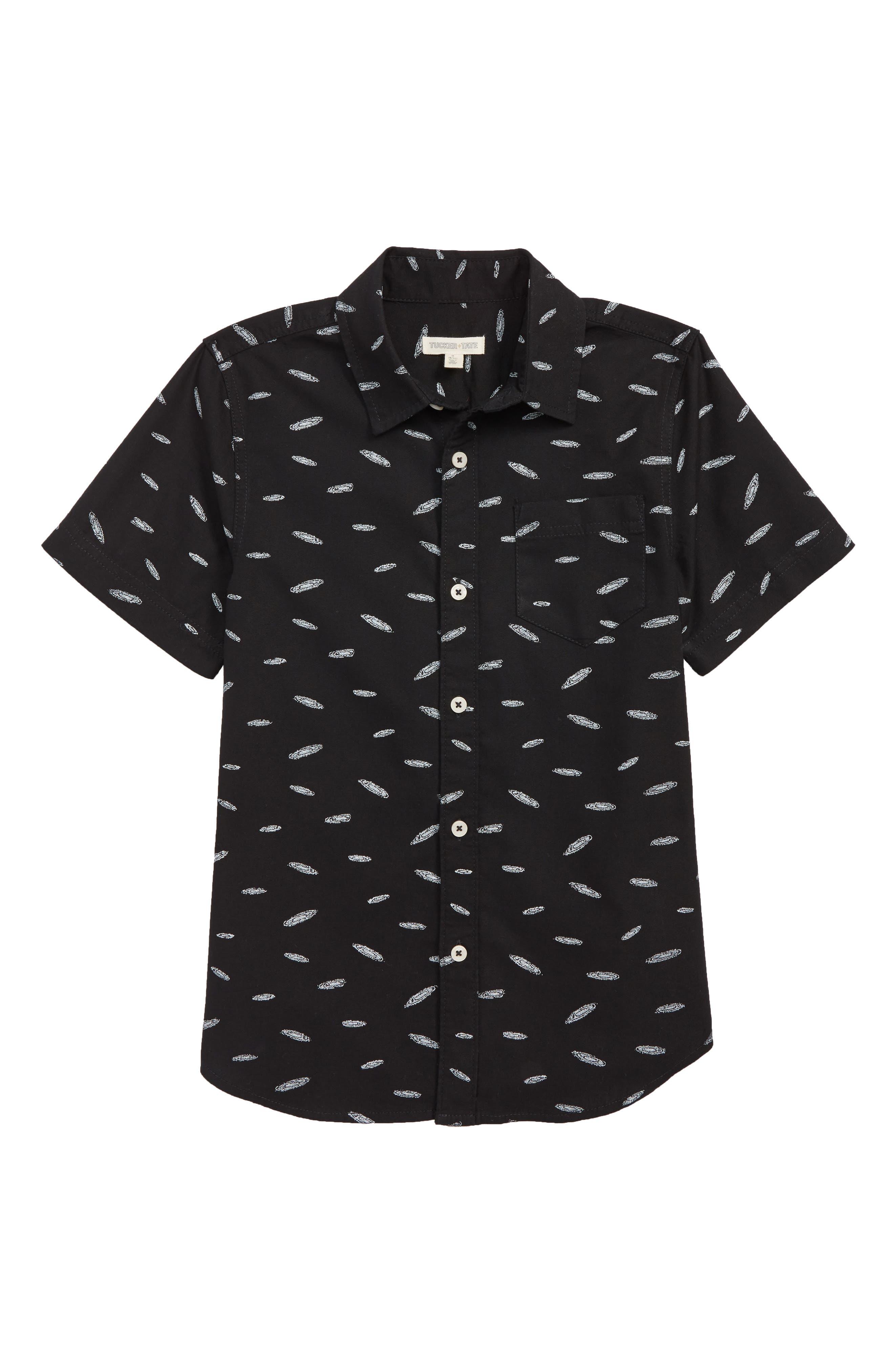 Print Woven Shirt,                             Main thumbnail 1, color,                             001