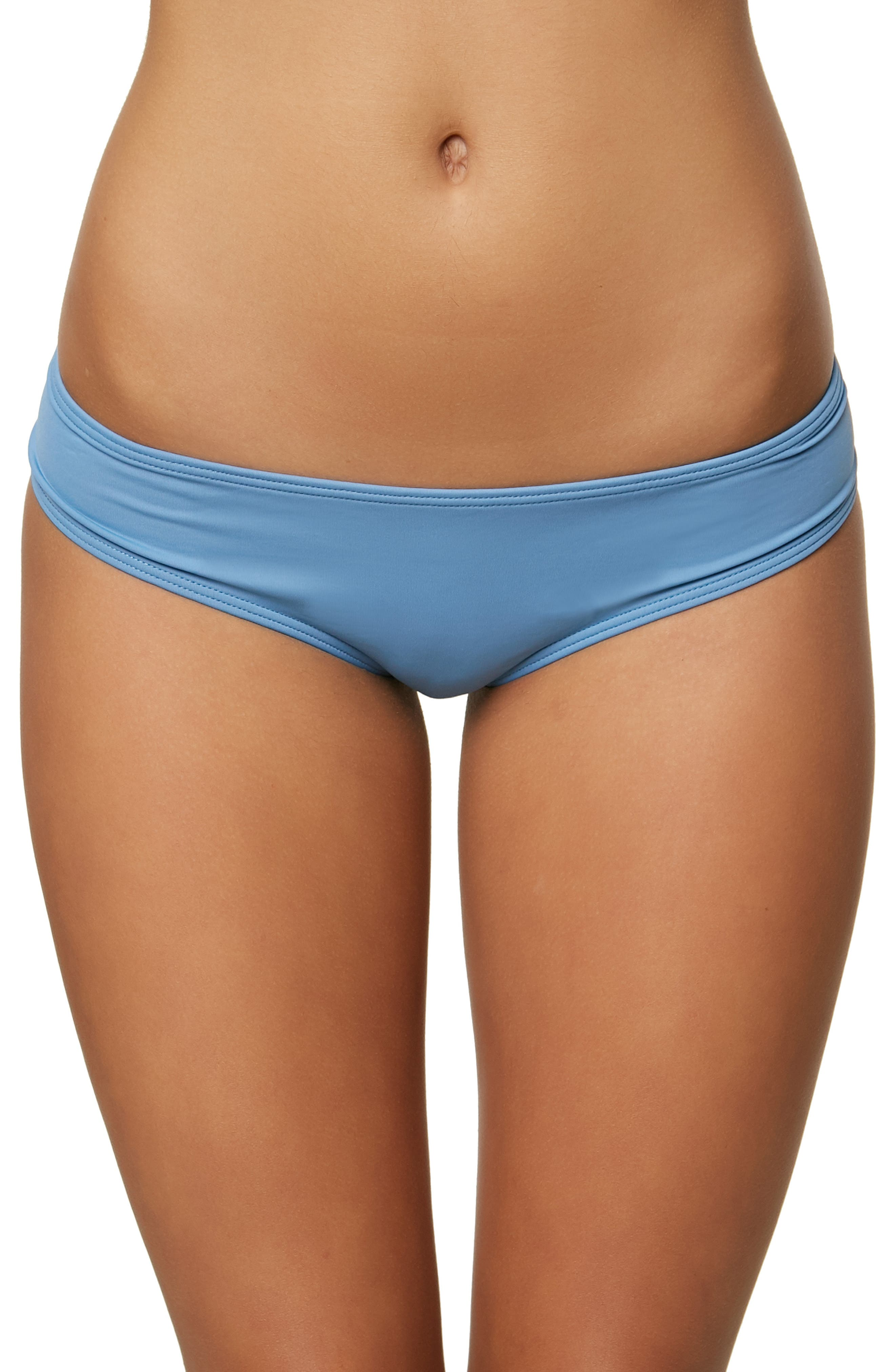 Salt Water Solids Hipster Bikini Bottoms,                         Main,                         color, WASHED INDIGO