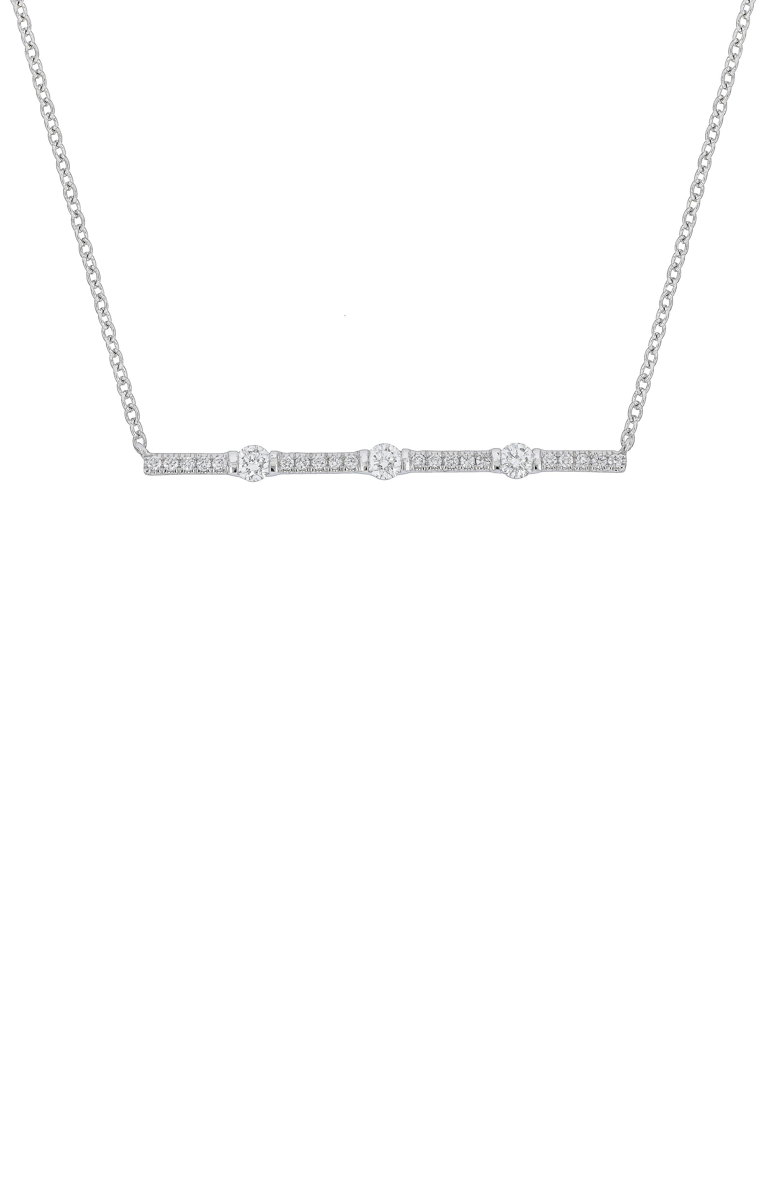 Liora Diamond Bar Pendant Necklace,                             Main thumbnail 1, color,                             WHITE GOLD