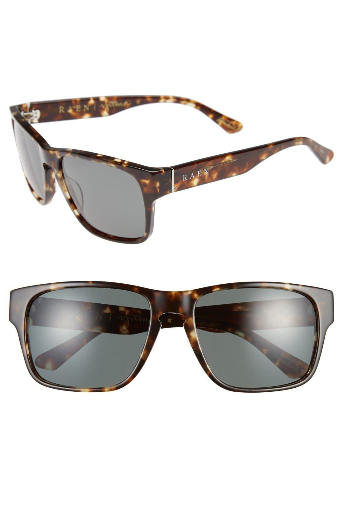 'Yuma' 57mm Sunglasses,                         Main,                         color, BRINDLE TORTOISE