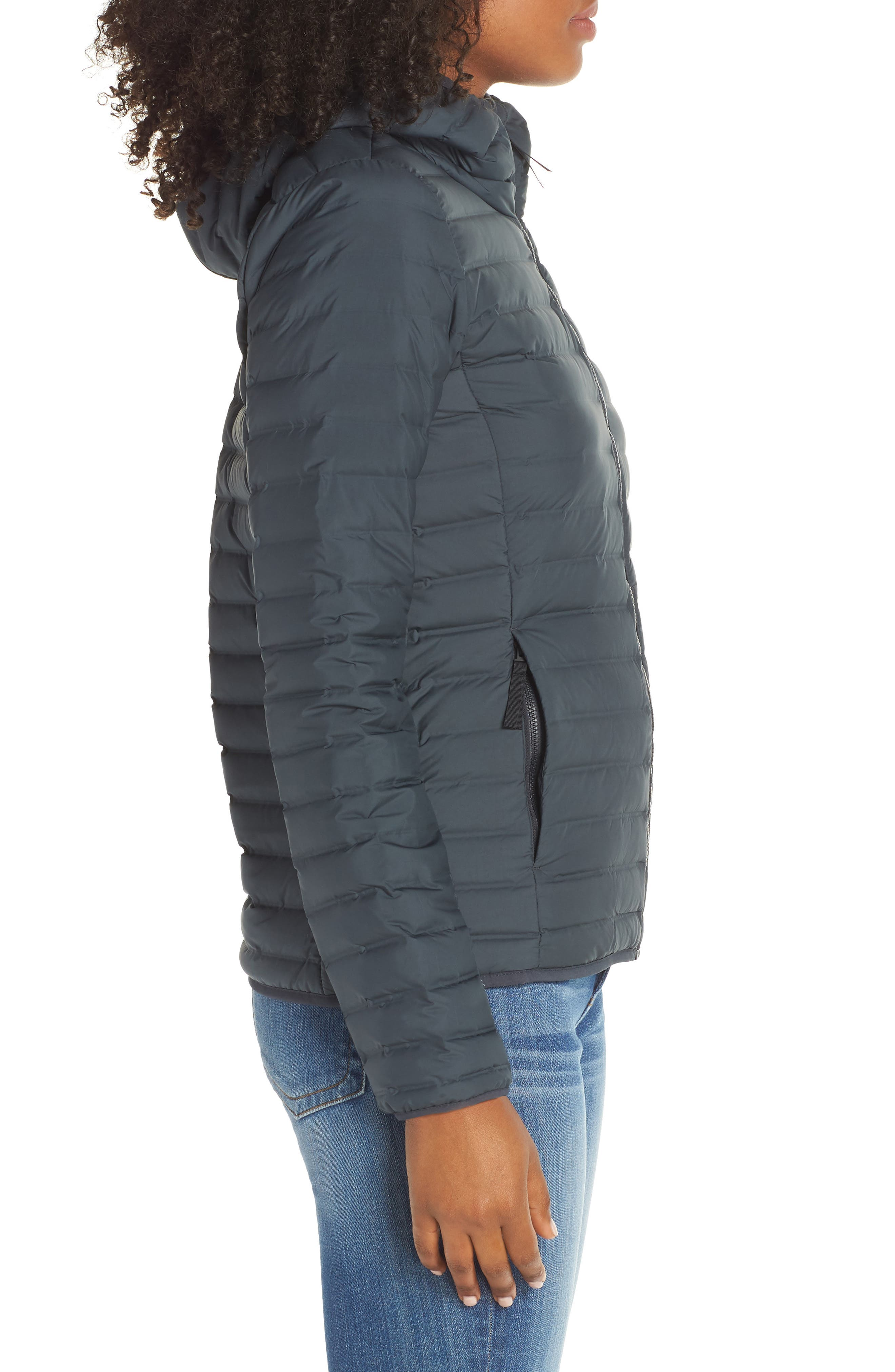 ADIDAS,                             Varilite Water Repellent Hooded 600-Fill-Power Down Jacket,                             Alternate thumbnail 3, color,                             020