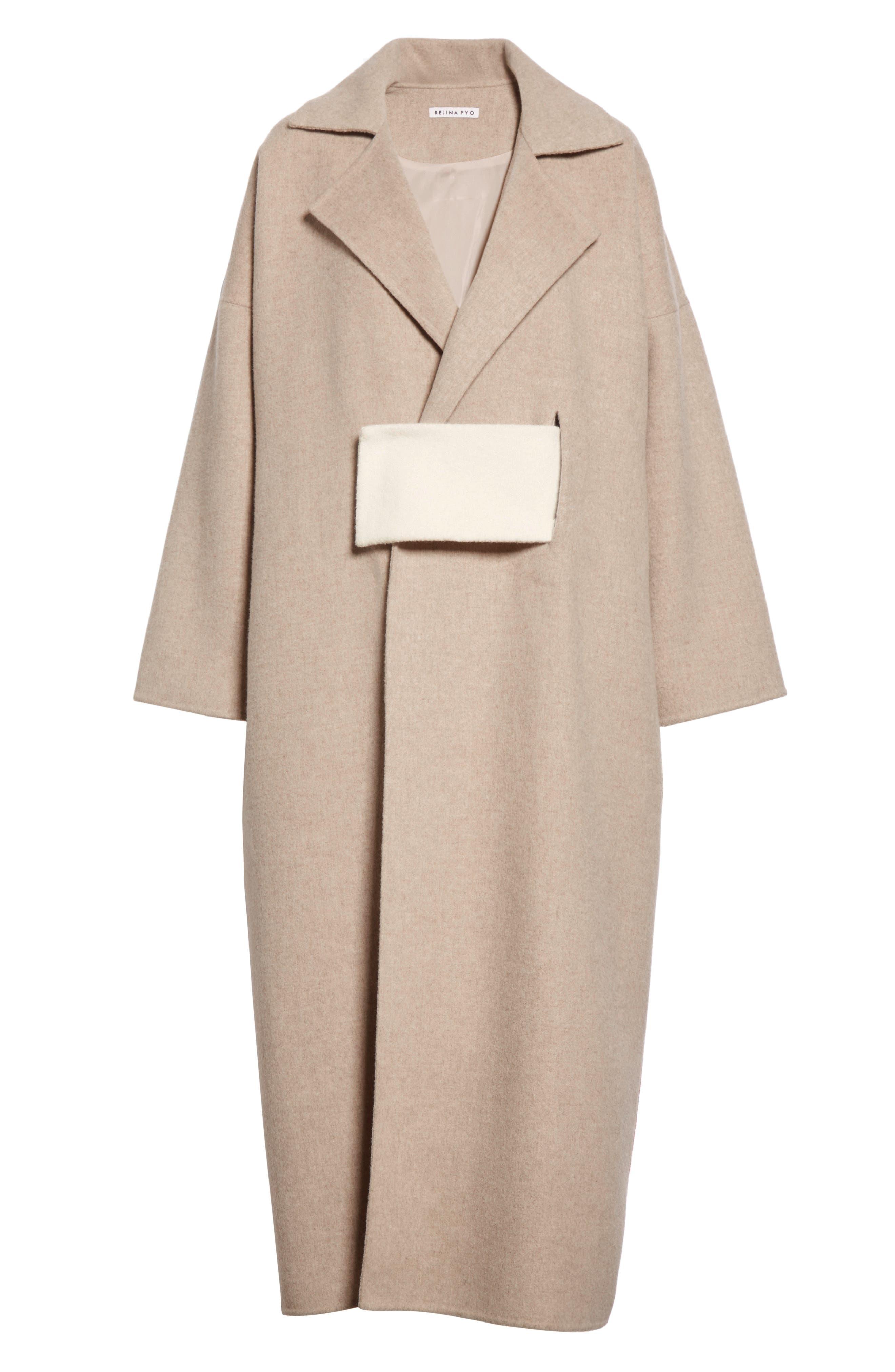 Kate Oversize Belted Coat,                             Alternate thumbnail 5, color,                             260