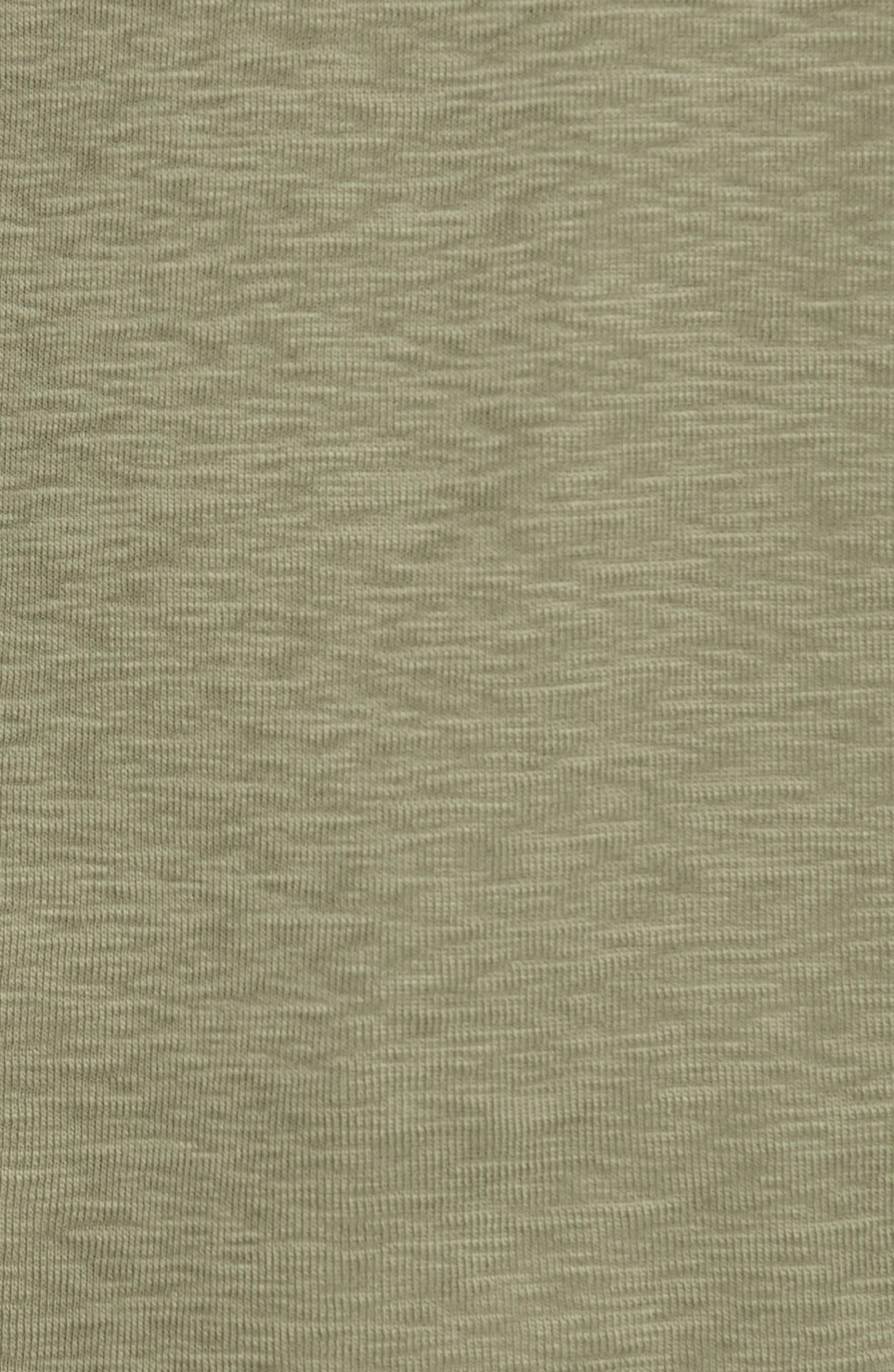 'Base' Short Sleeve Henley,                             Alternate thumbnail 5, color,                             OLIVE