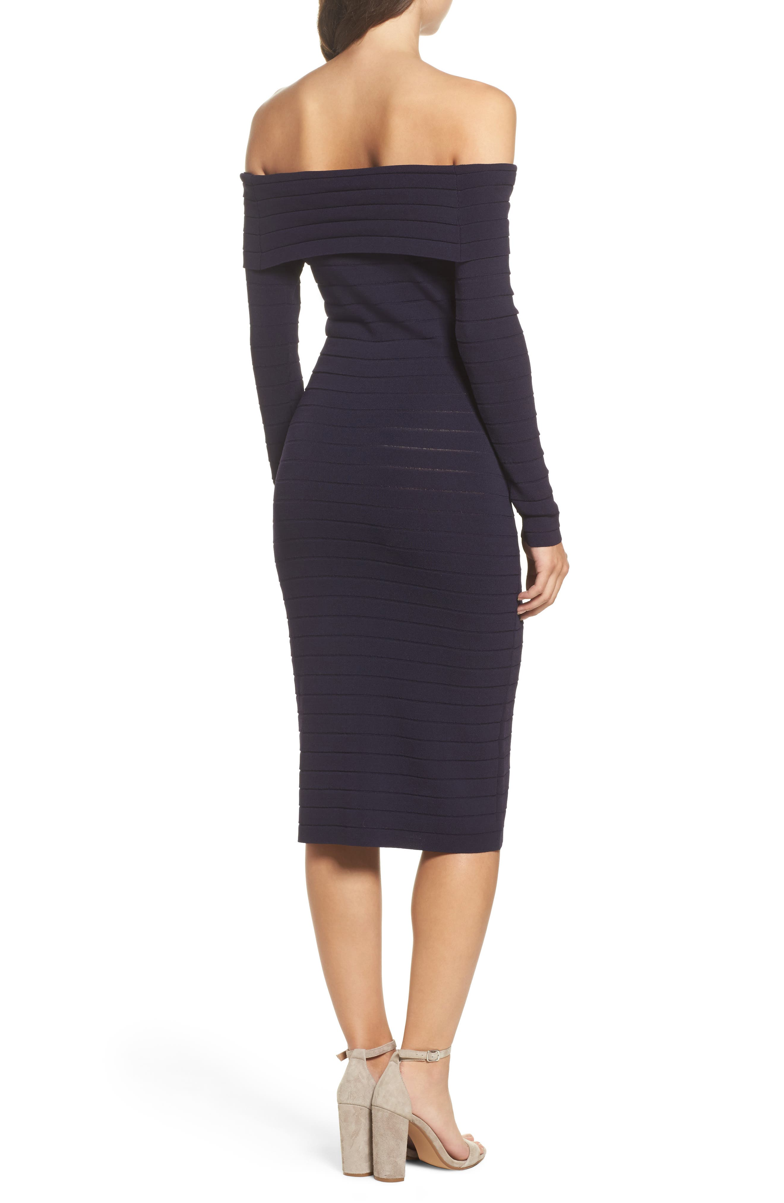 Bandage Midi Dress,                             Alternate thumbnail 8, color,