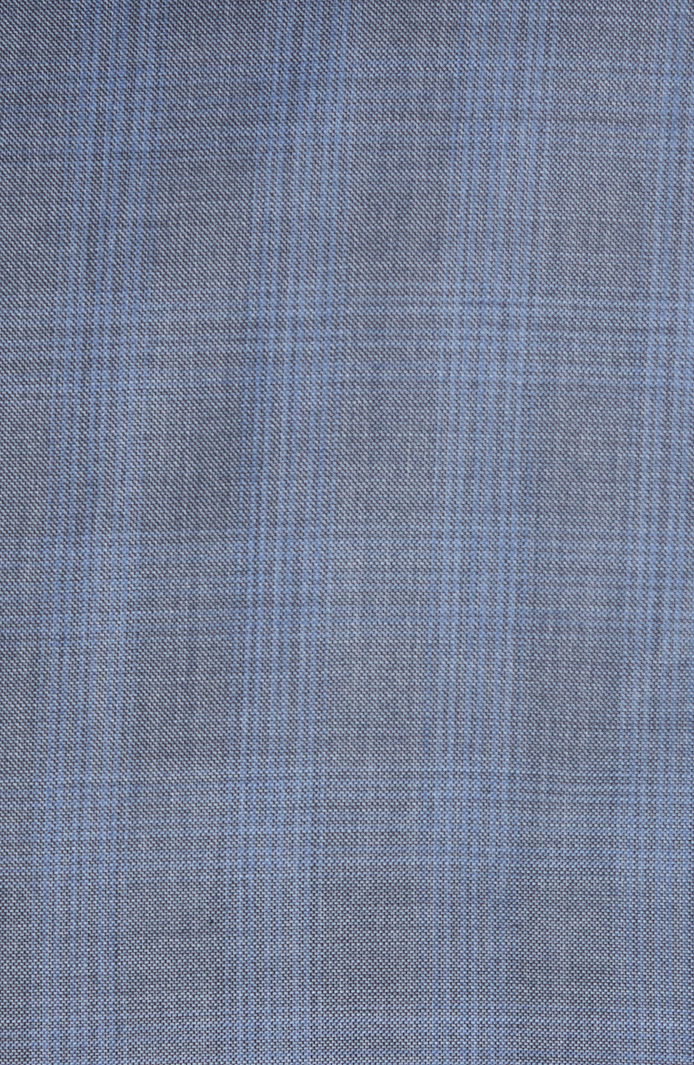 Ryan Classic Fit Plaid Wool Suit,                             Alternate thumbnail 7, color,                             020