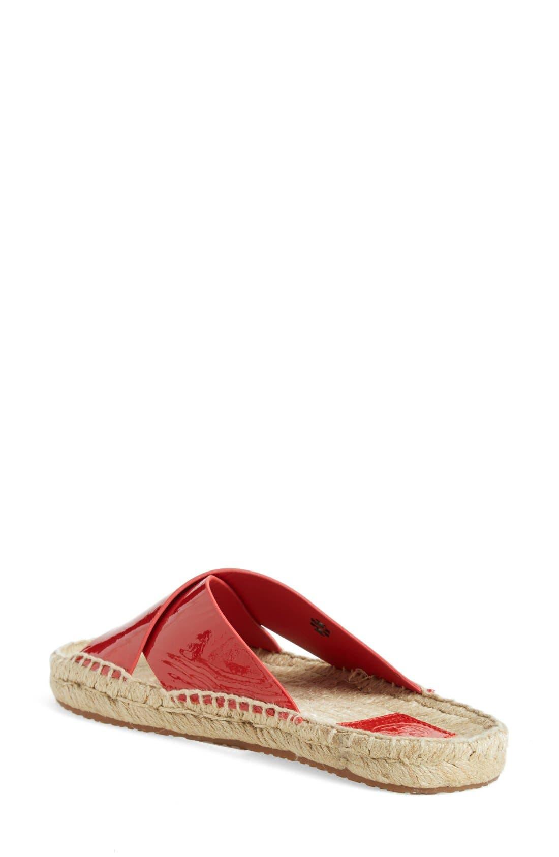TORY BURCH,                             'Bima' Espadrille Slide Sandal,                             Alternate thumbnail 2, color,                             601