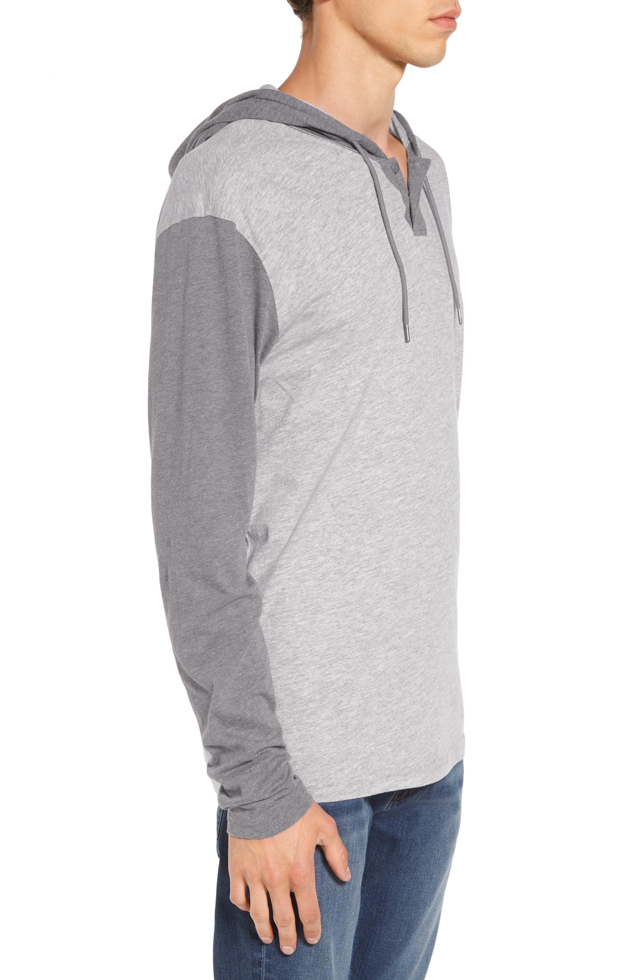 Pick Up Hooded Henley Sweatshirt,                             Alternate thumbnail 3, color,                             021