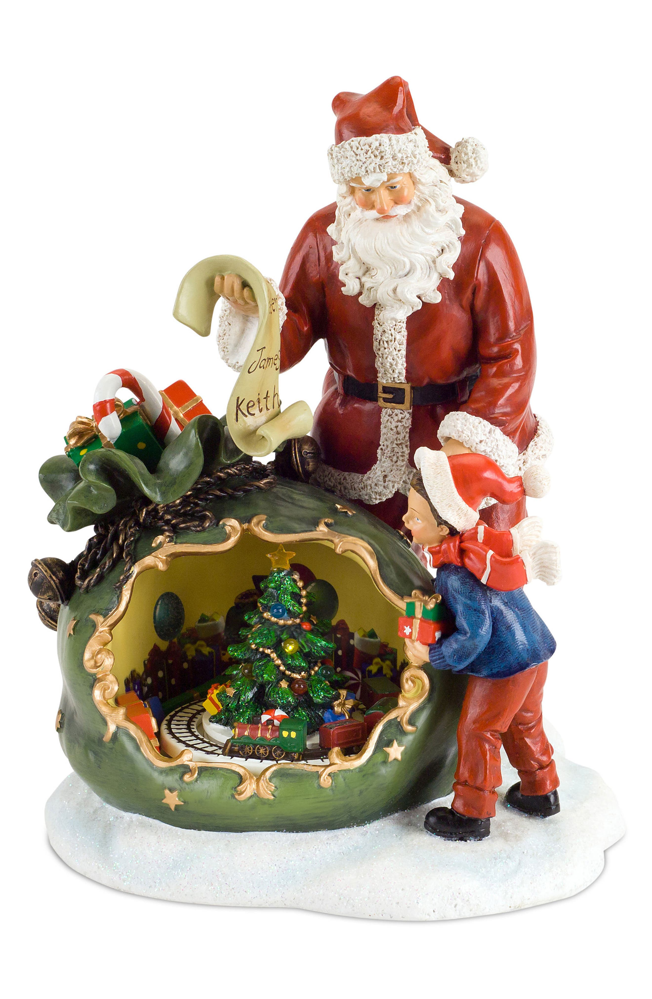 Santa Light-Up Musical Statue,                         Main,                         color, 600