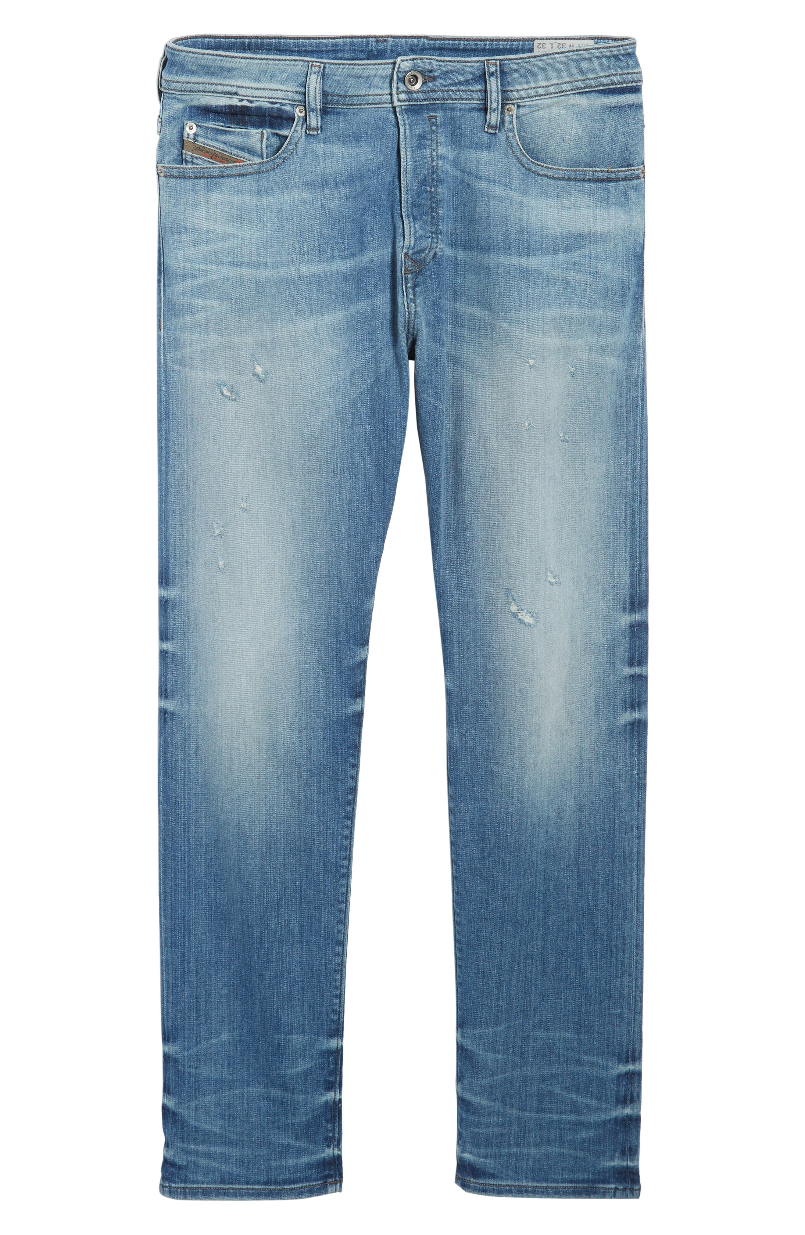 'Buster' Slim Straight Fit Jeans,                             Alternate thumbnail 7, color,                             400
