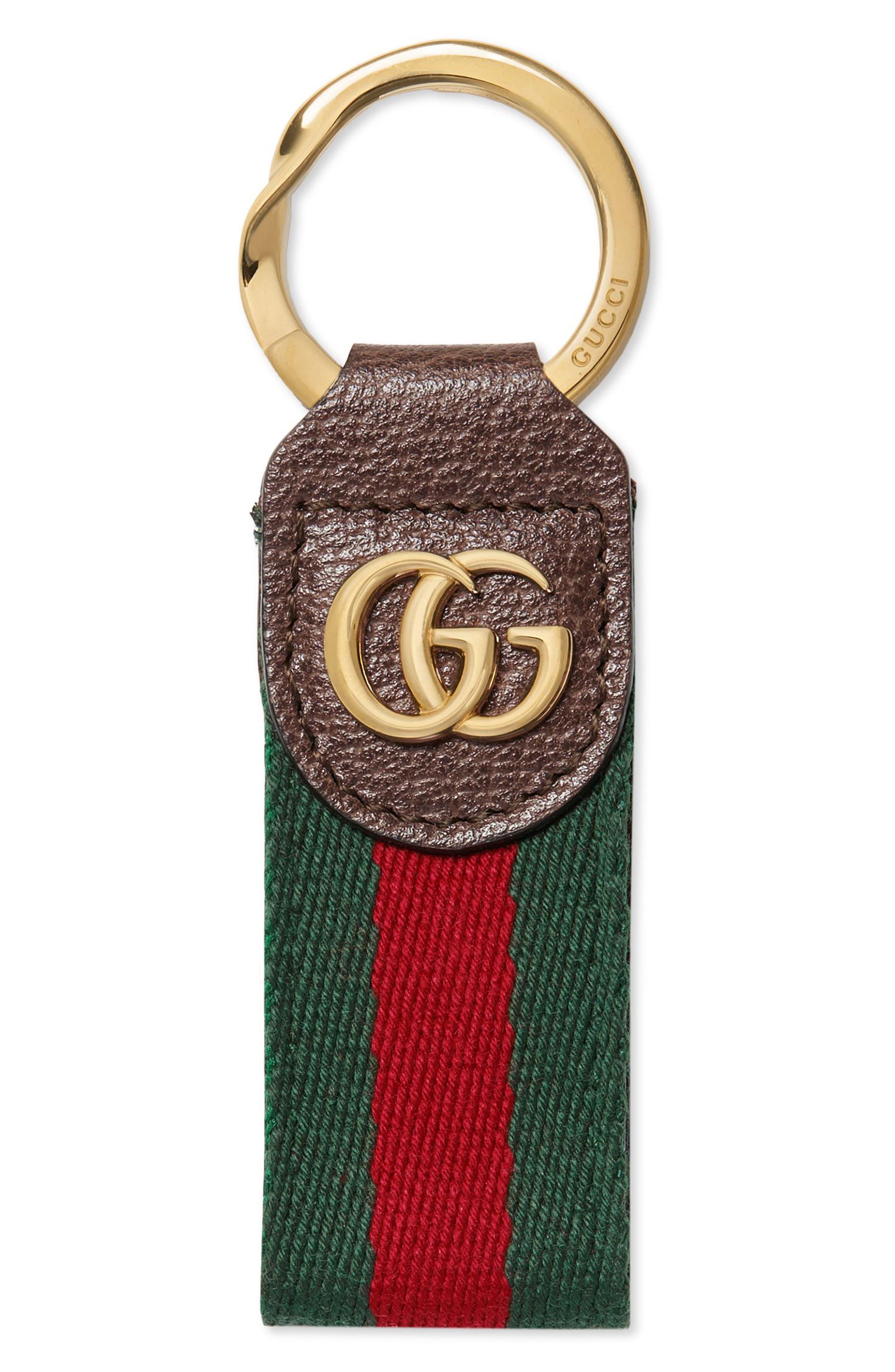 Double-G Web Key Chain,                             Main thumbnail 1, color,                             205