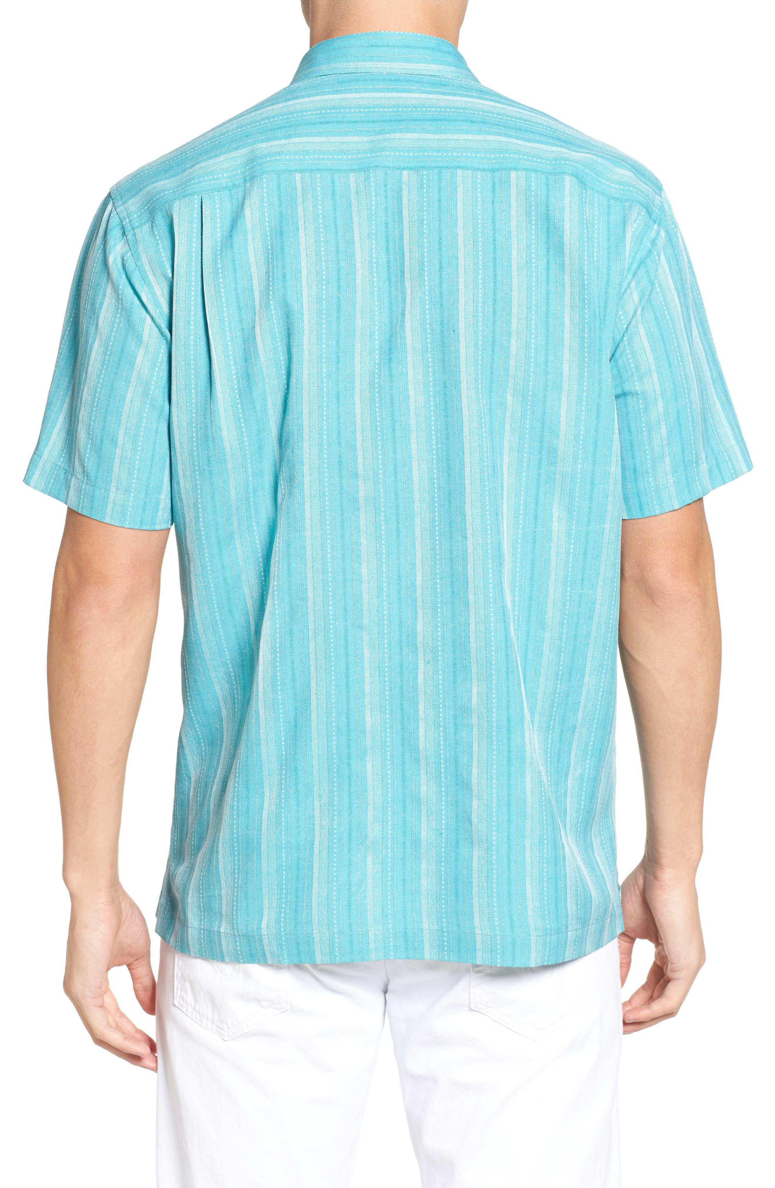 Zaldera Stripe Silk Camp Shirt,                             Alternate thumbnail 8, color,