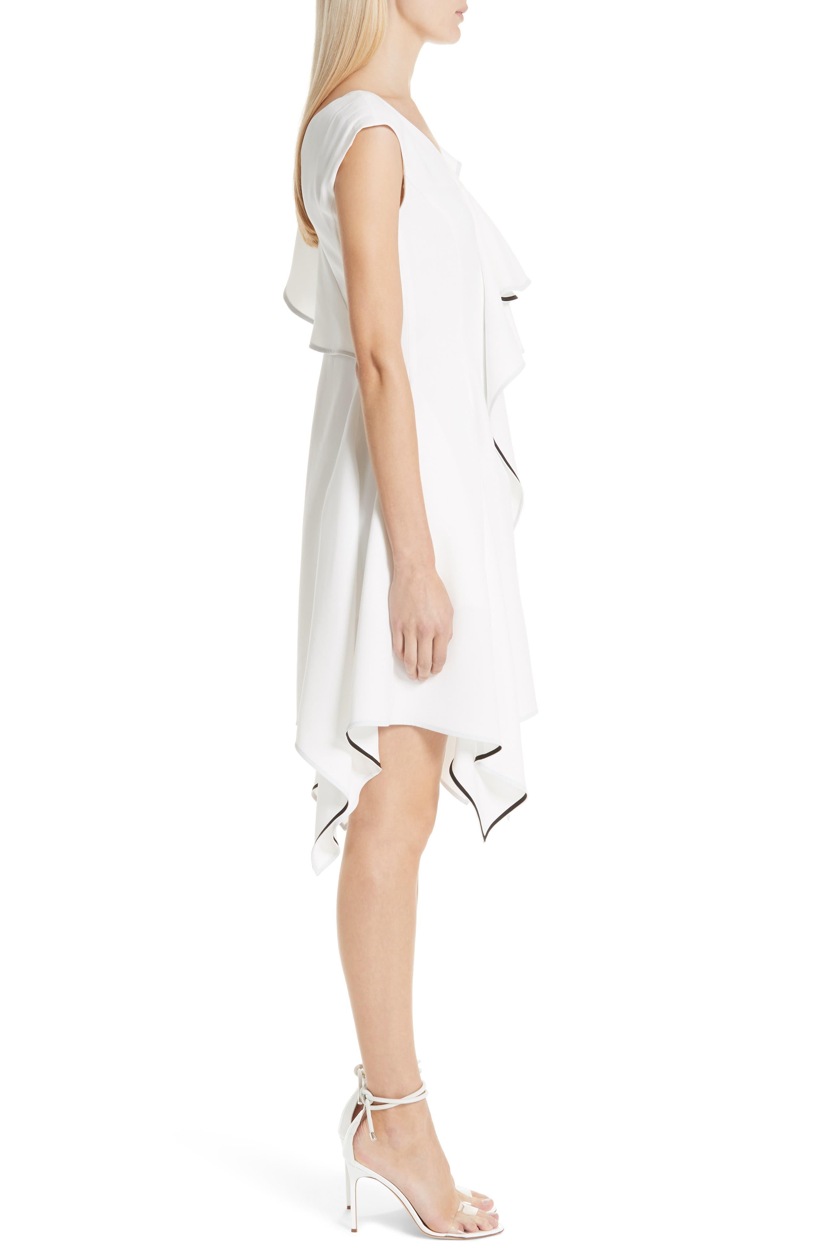 Deconstructed Ruffle Dress,                             Alternate thumbnail 3, color,                             WHITE