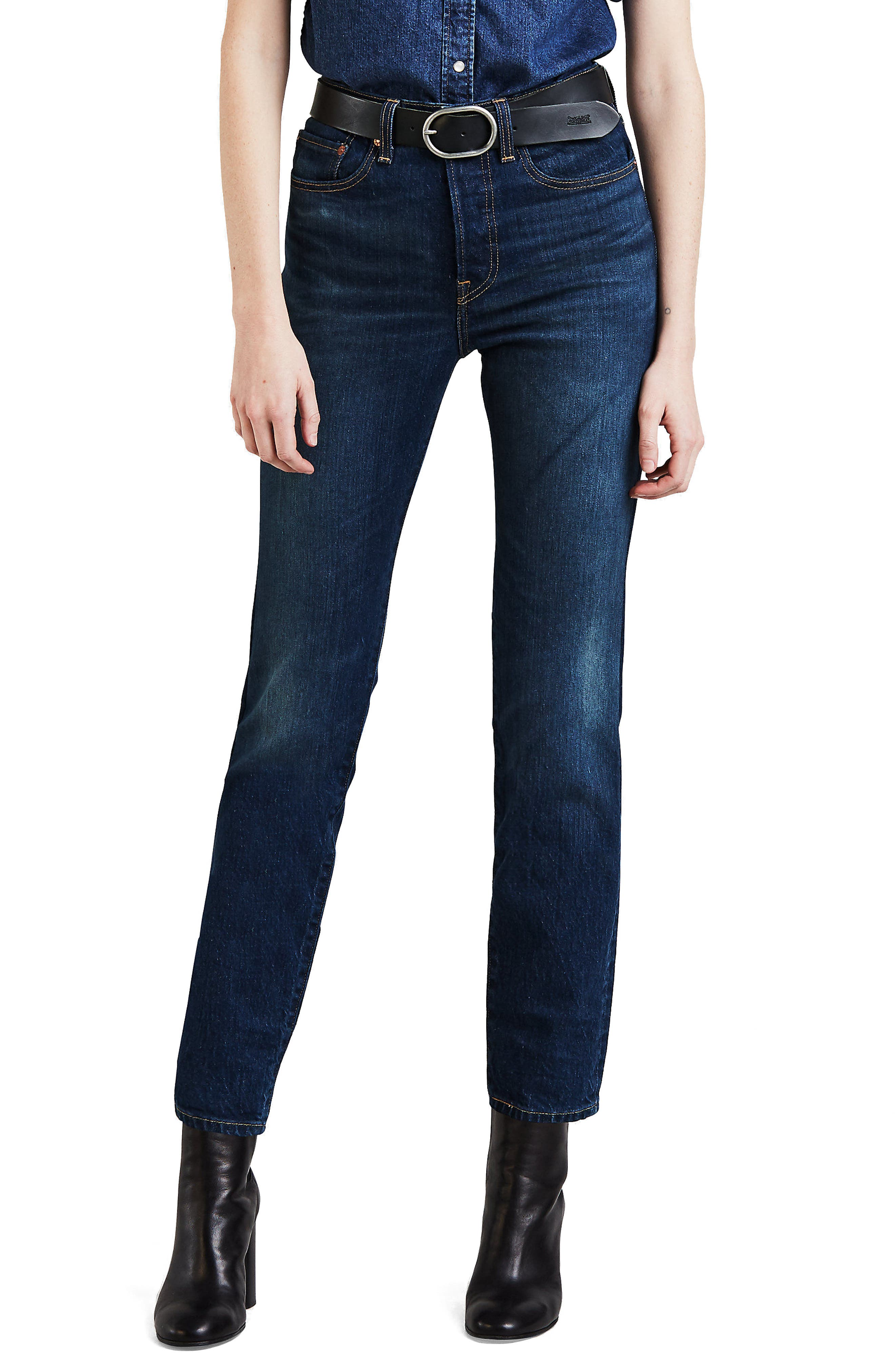Wedgie Icon Fit High-Rise Skinny Jeans in Blue