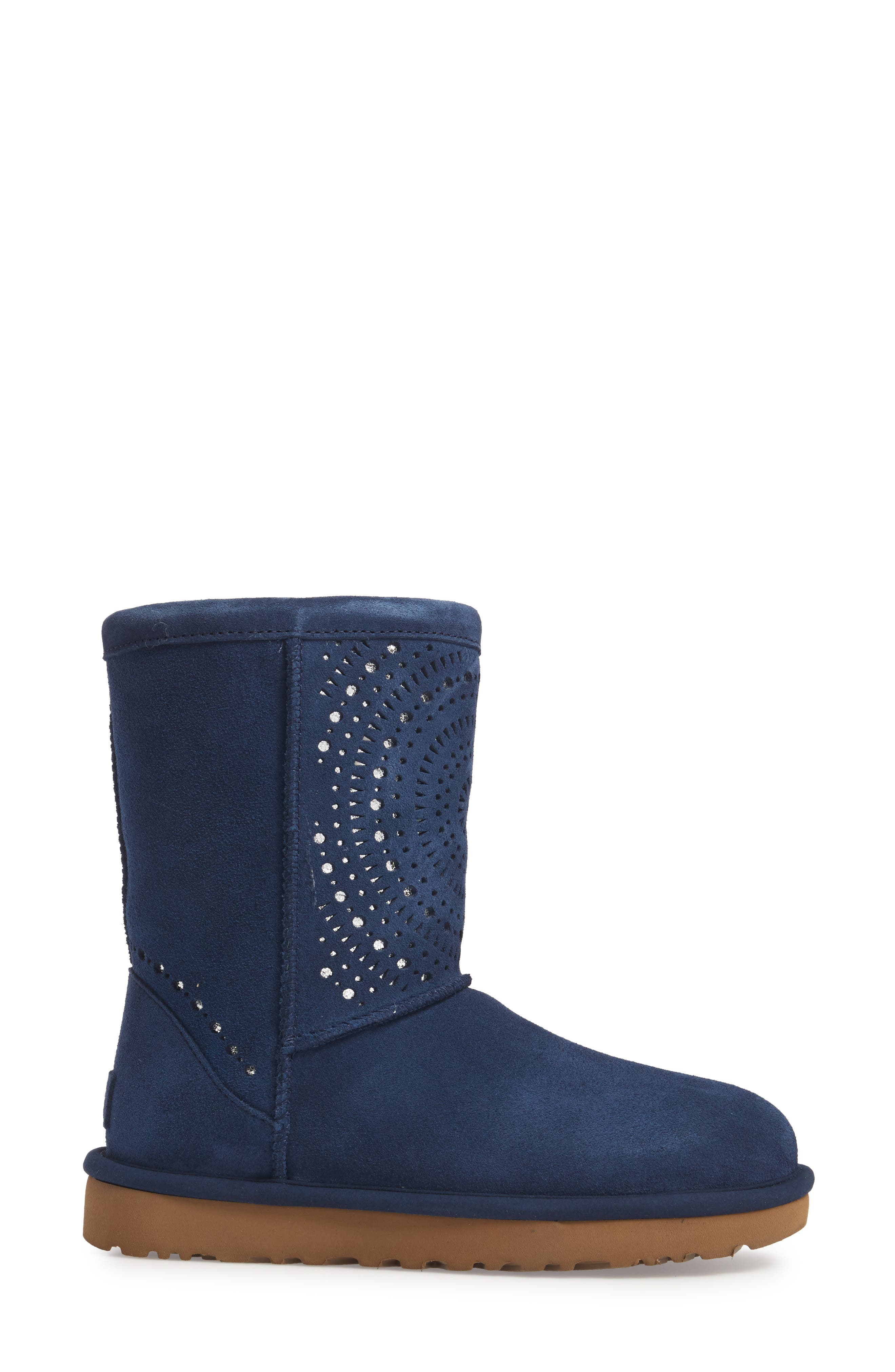 Classic Short Sunshine Perforated Boot,                             Alternate thumbnail 9, color,