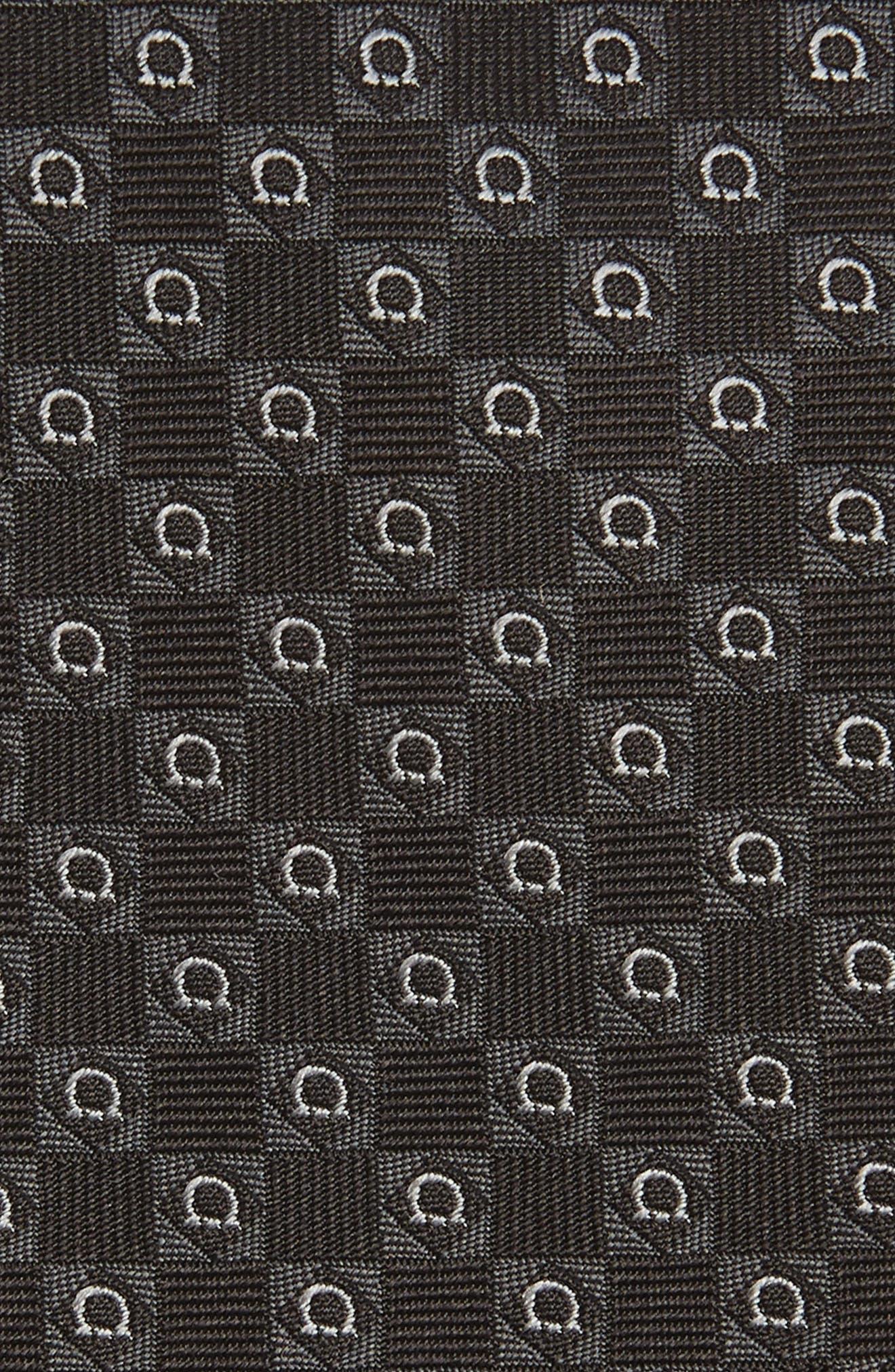 Erice Geometric Silk Tie,                             Alternate thumbnail 2, color,                             BLACK