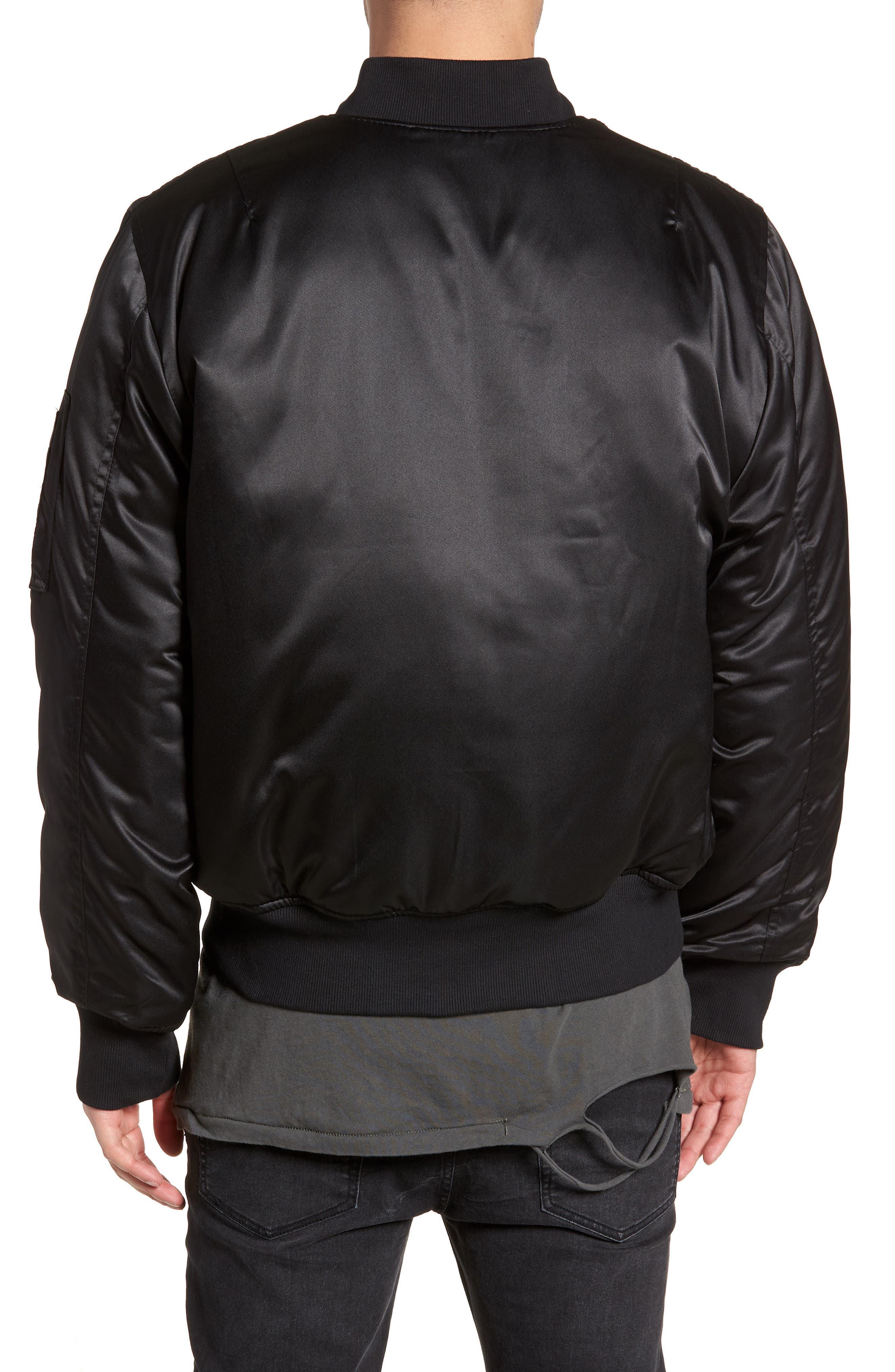 Maverick Reversible Bomber Jacket,                             Alternate thumbnail 3, color,                             BLACK/ JUNGLE CAT