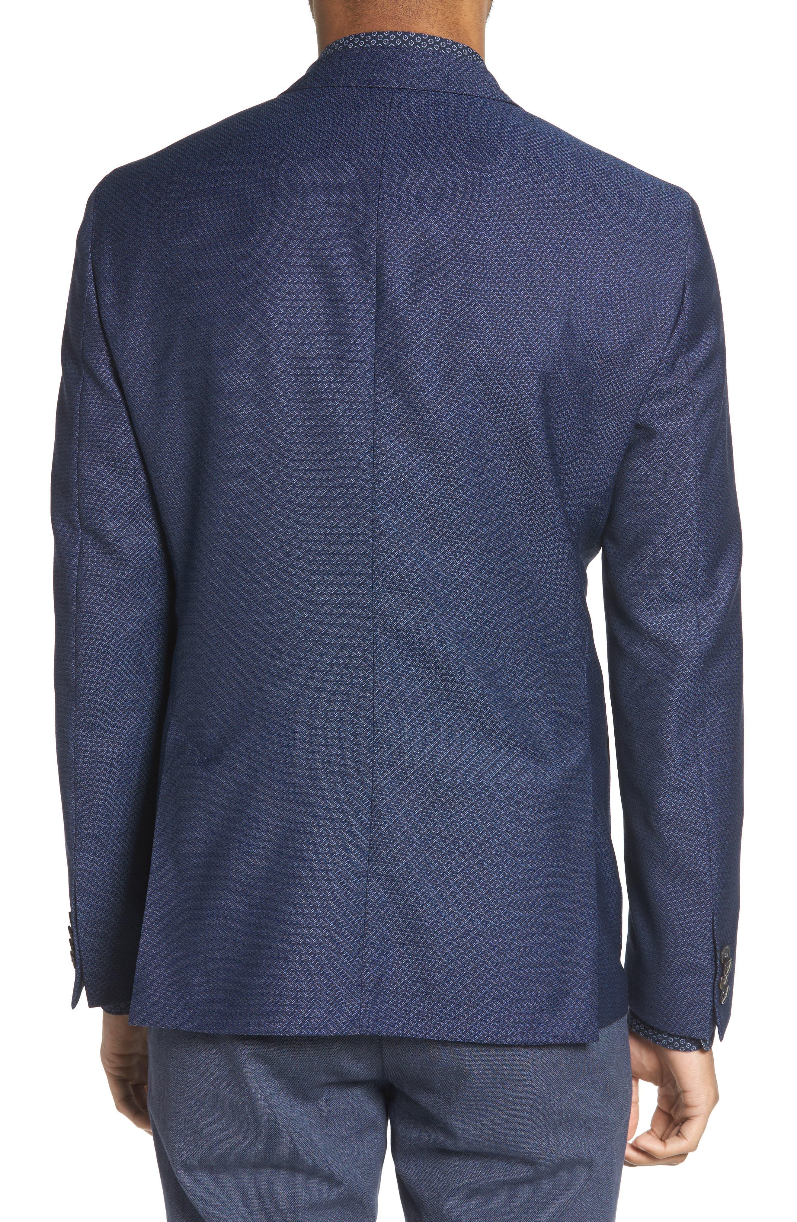 Raye Extra Trim Fit Wool Blazer,                             Alternate thumbnail 2, color,                             BLUE