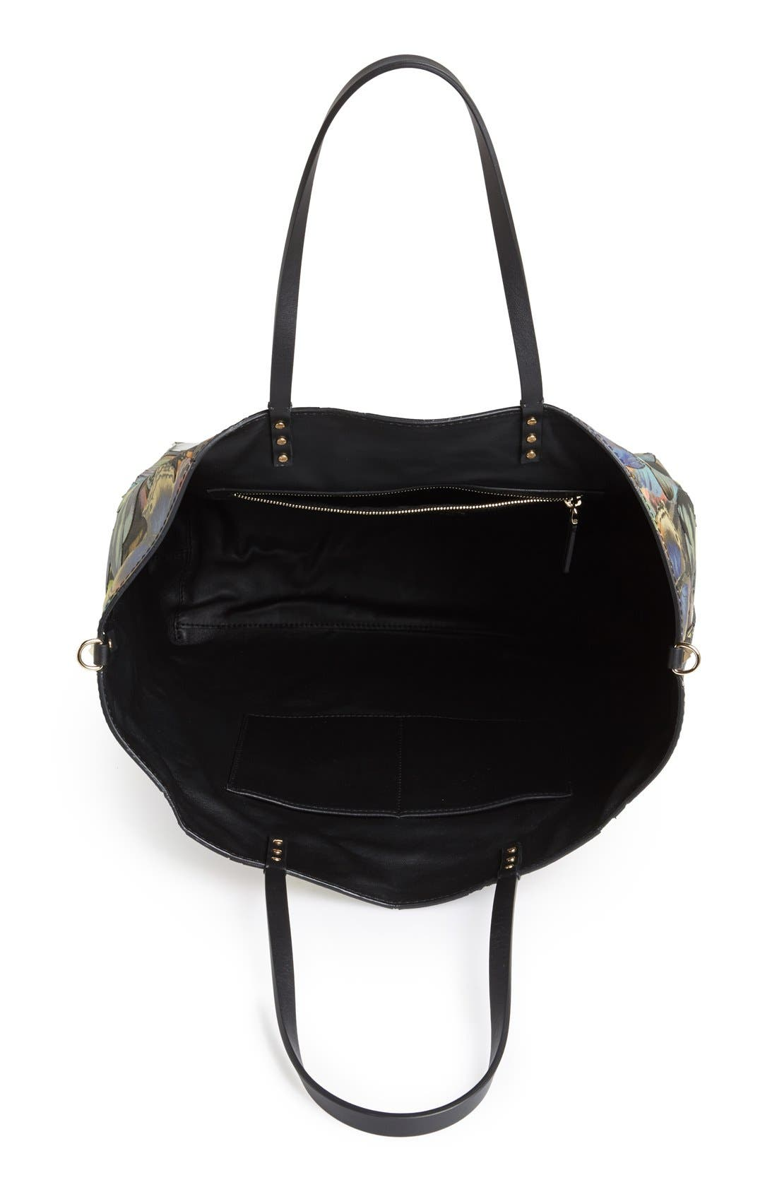 'Camu Butterfly' Leather Tote,                             Alternate thumbnail 2, color,                             300