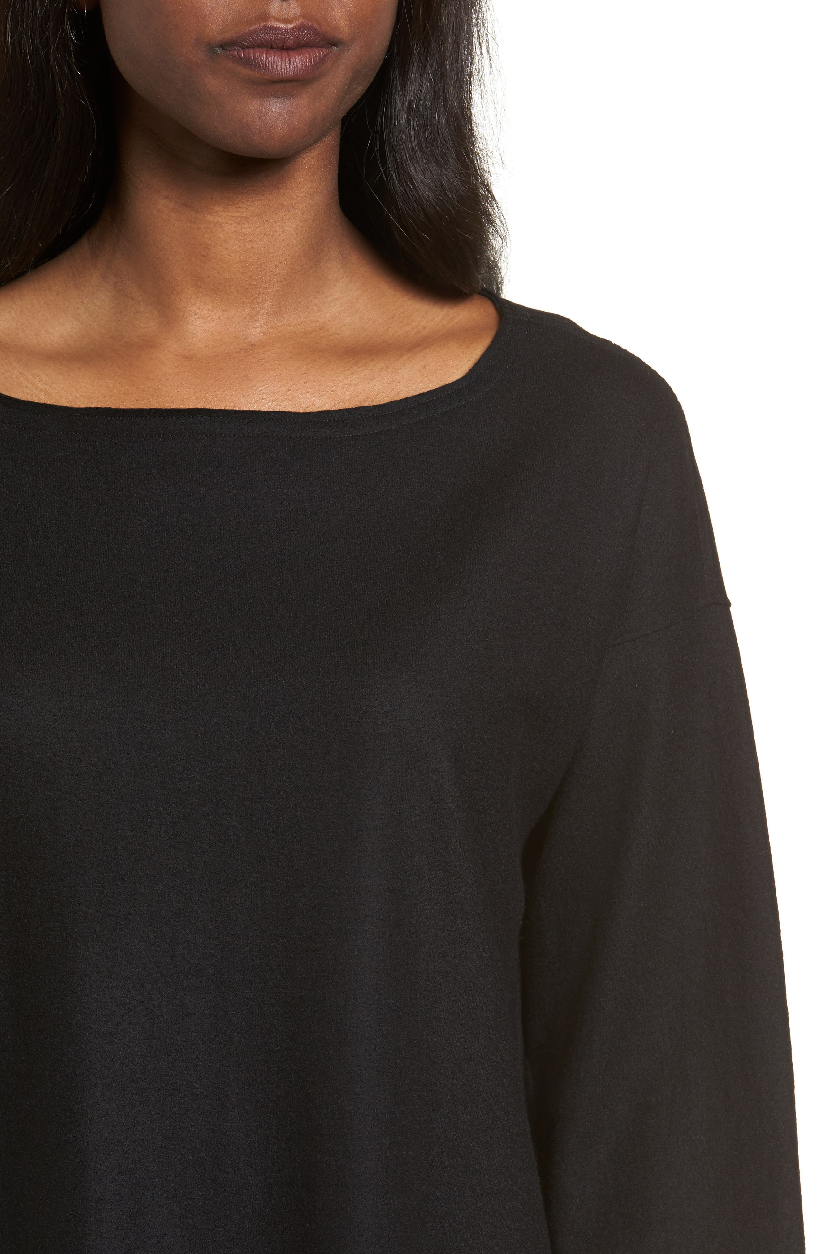 Boiled Wool Jersey Top,                             Alternate thumbnail 4, color,                             001