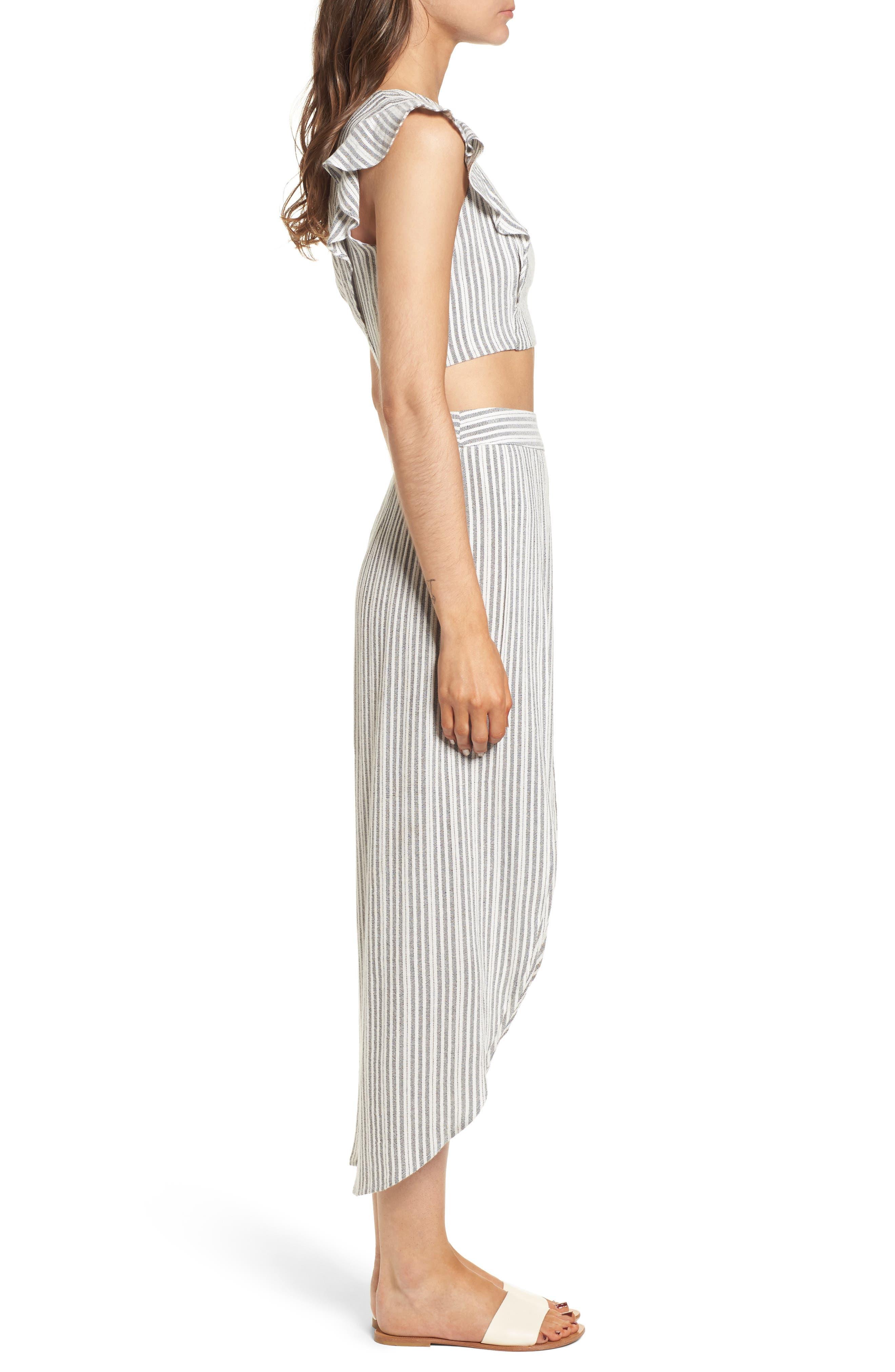 Kika Stripe Split Culottes,                             Alternate thumbnail 9, color,
