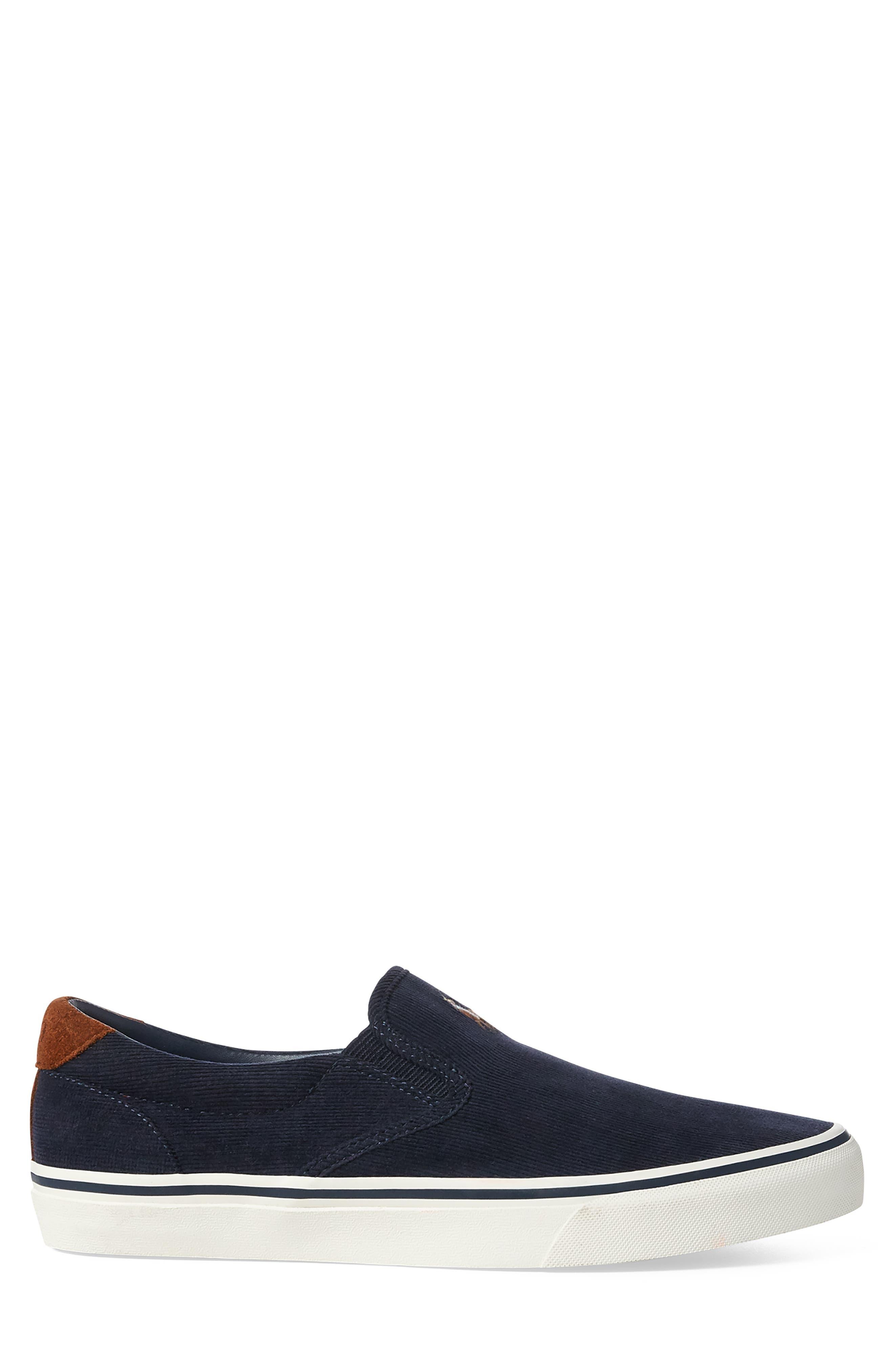 Thompson Corduroy Slip-On Sneaker,                             Alternate thumbnail 2, color,                             NAVY
