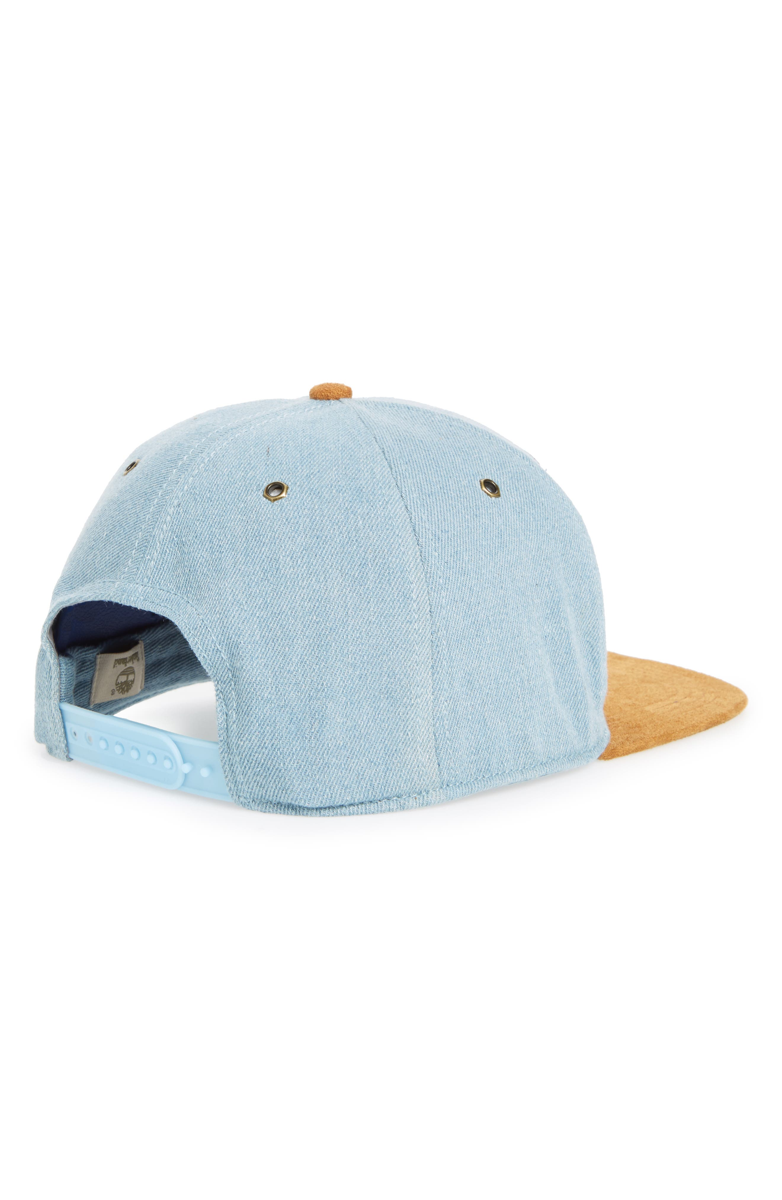 Tilton Logo Baseball Cap,                             Alternate thumbnail 2, color,                             BRUSHED DENIM