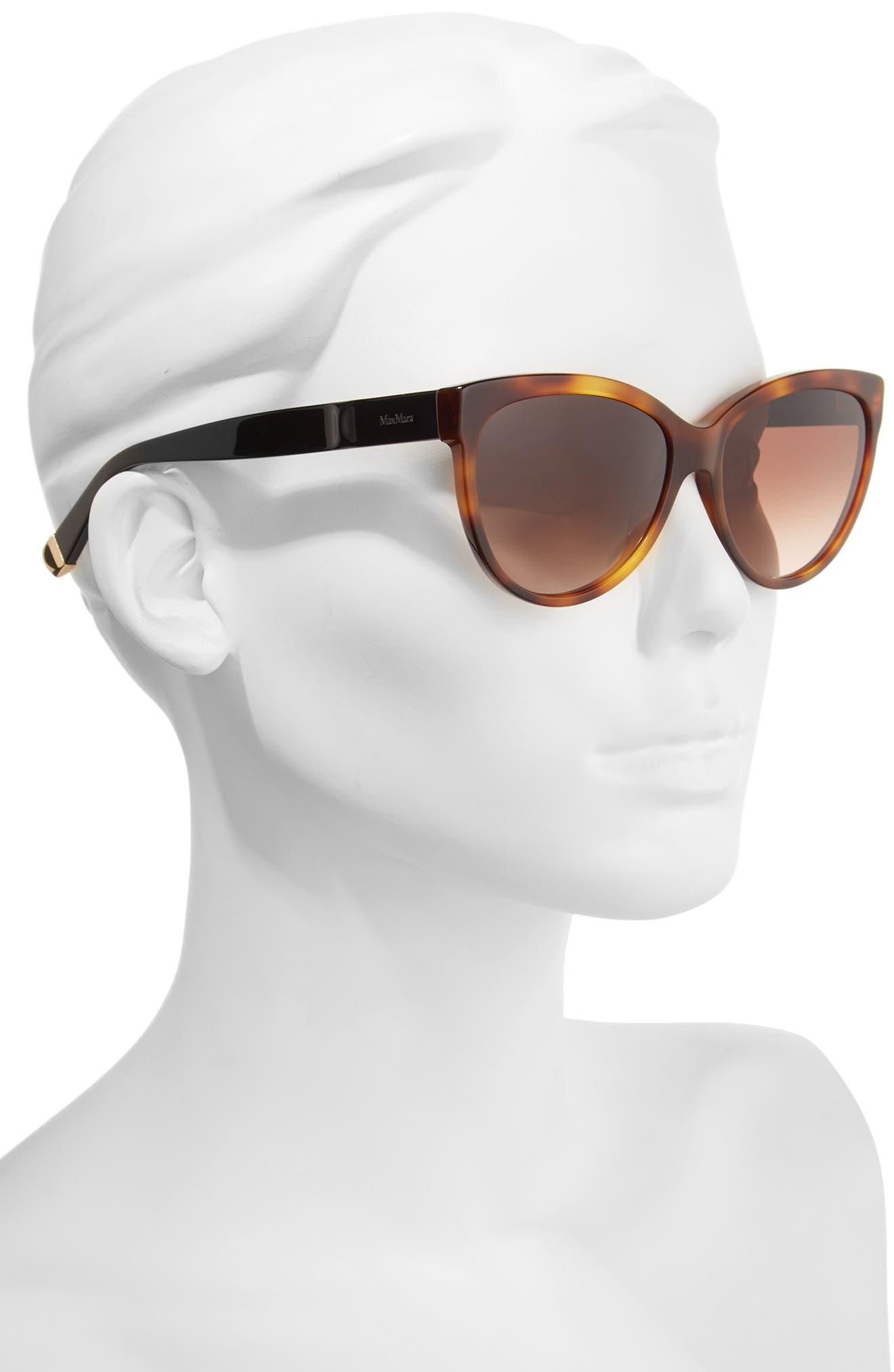 Moderii 57mm Gradient Cat Eye Sunglasses,                             Alternate thumbnail 4, color,