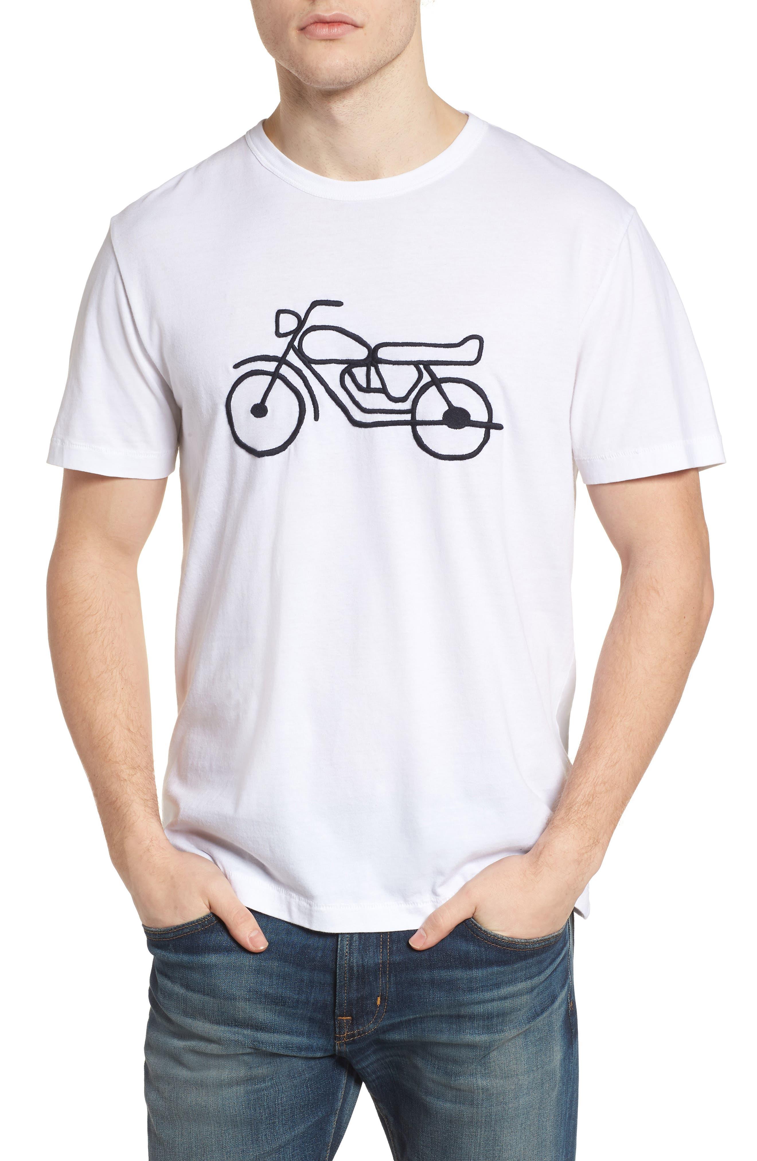 Motorcycle Crewneck T-Shirt, Main, color, 146