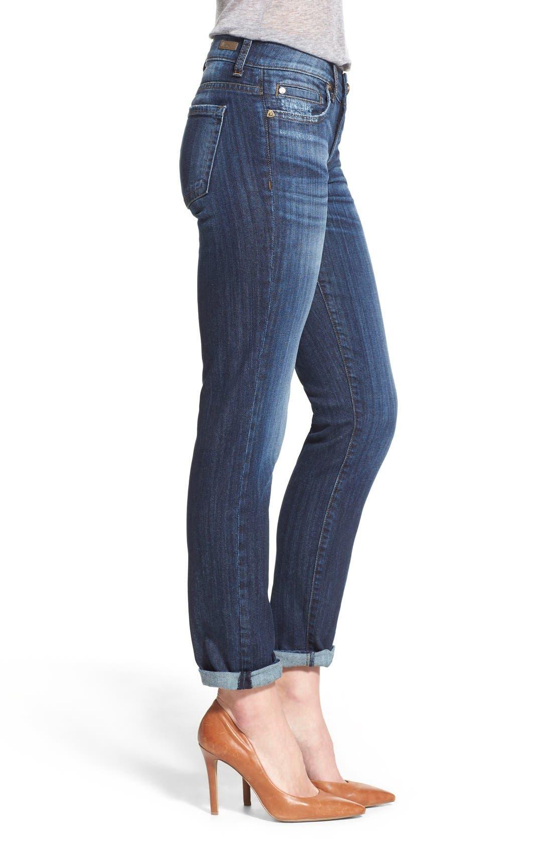 'Catherine' Stretch Boyfriend Jeans,                             Alternate thumbnail 2, color,                             402