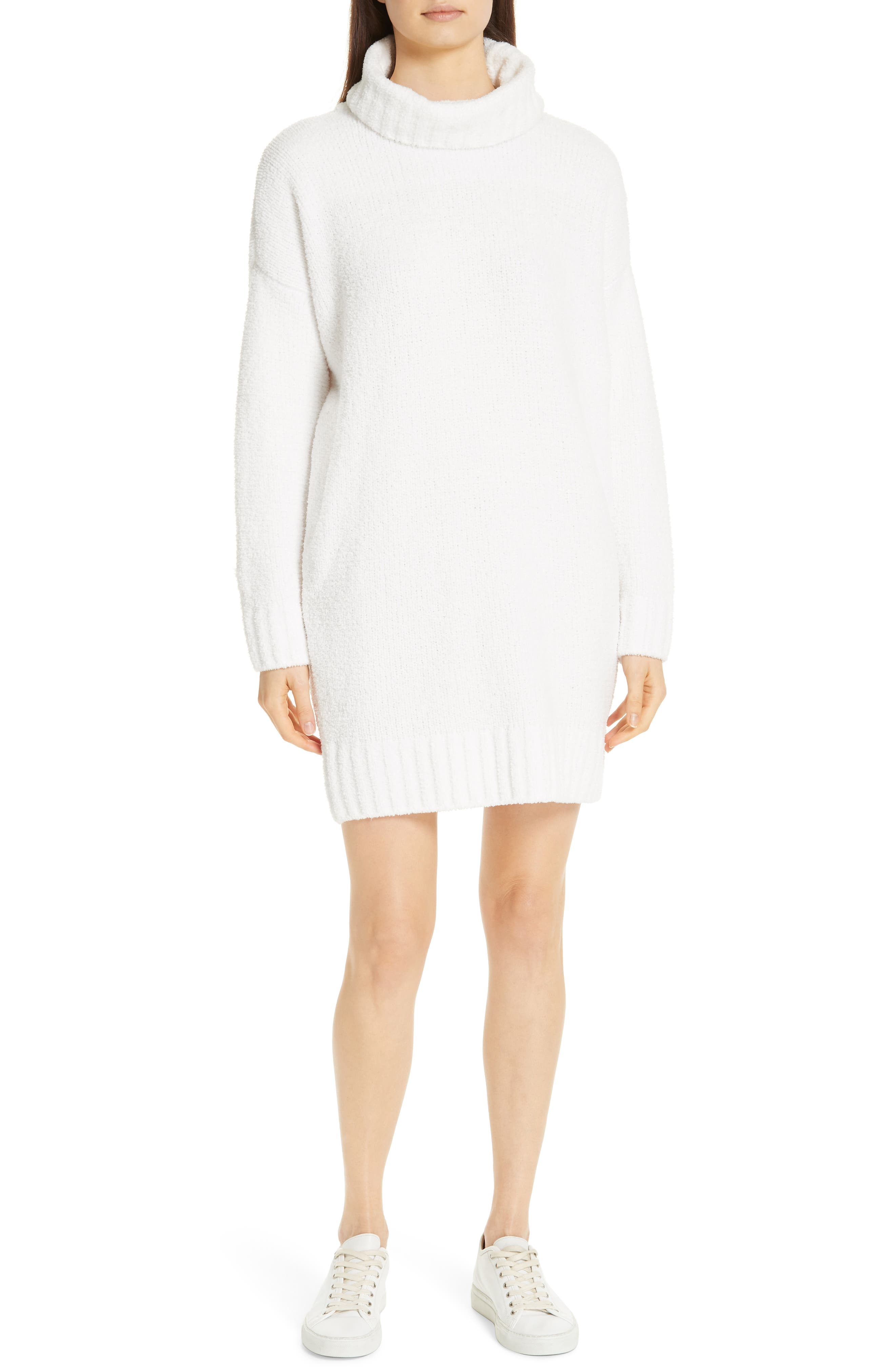 Atm Anthony Thomas Melillo Chenille Turtleneck Sweater Dress