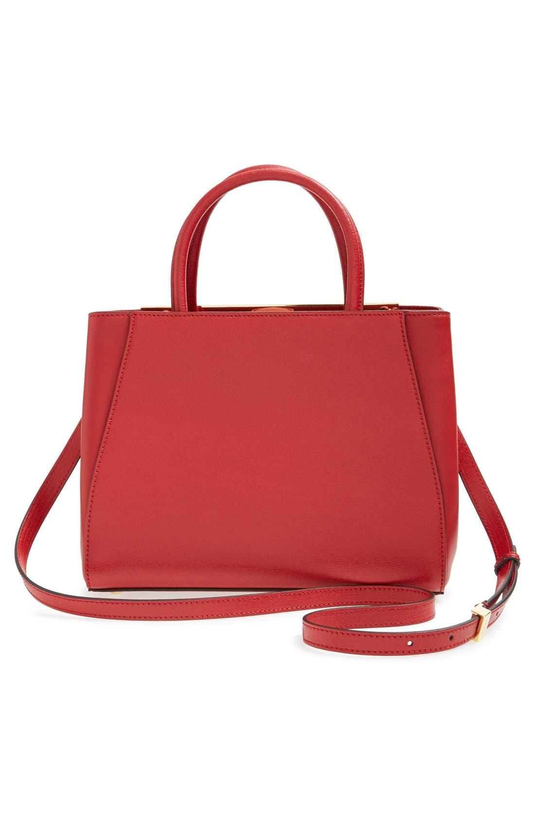 'Petite 2Jours Elite' Leather Shopper,                             Alternate thumbnail 61, color,
