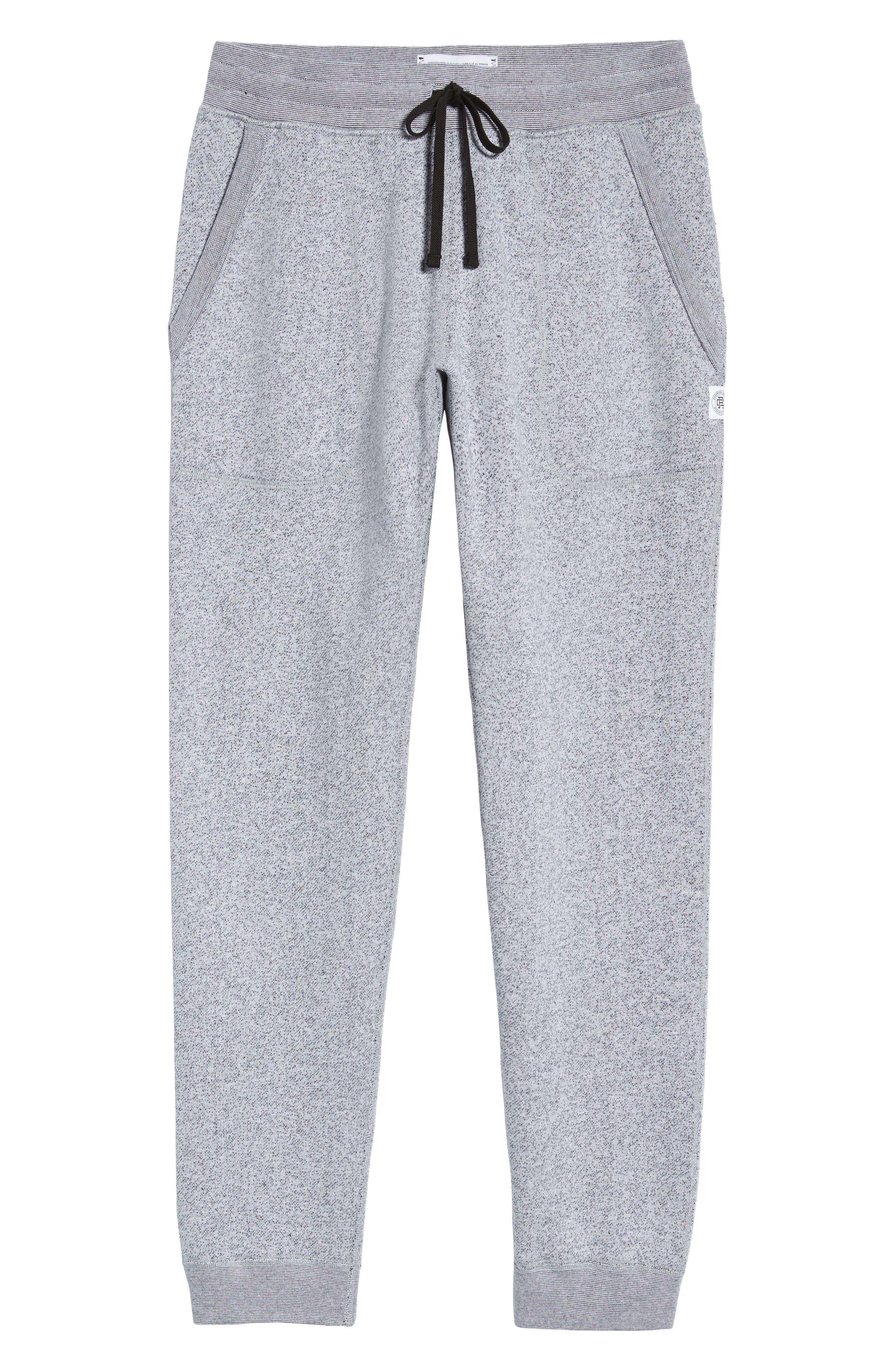 Tiger Slim Jogger Sweatpants,                             Alternate thumbnail 6, color,                             WHITE