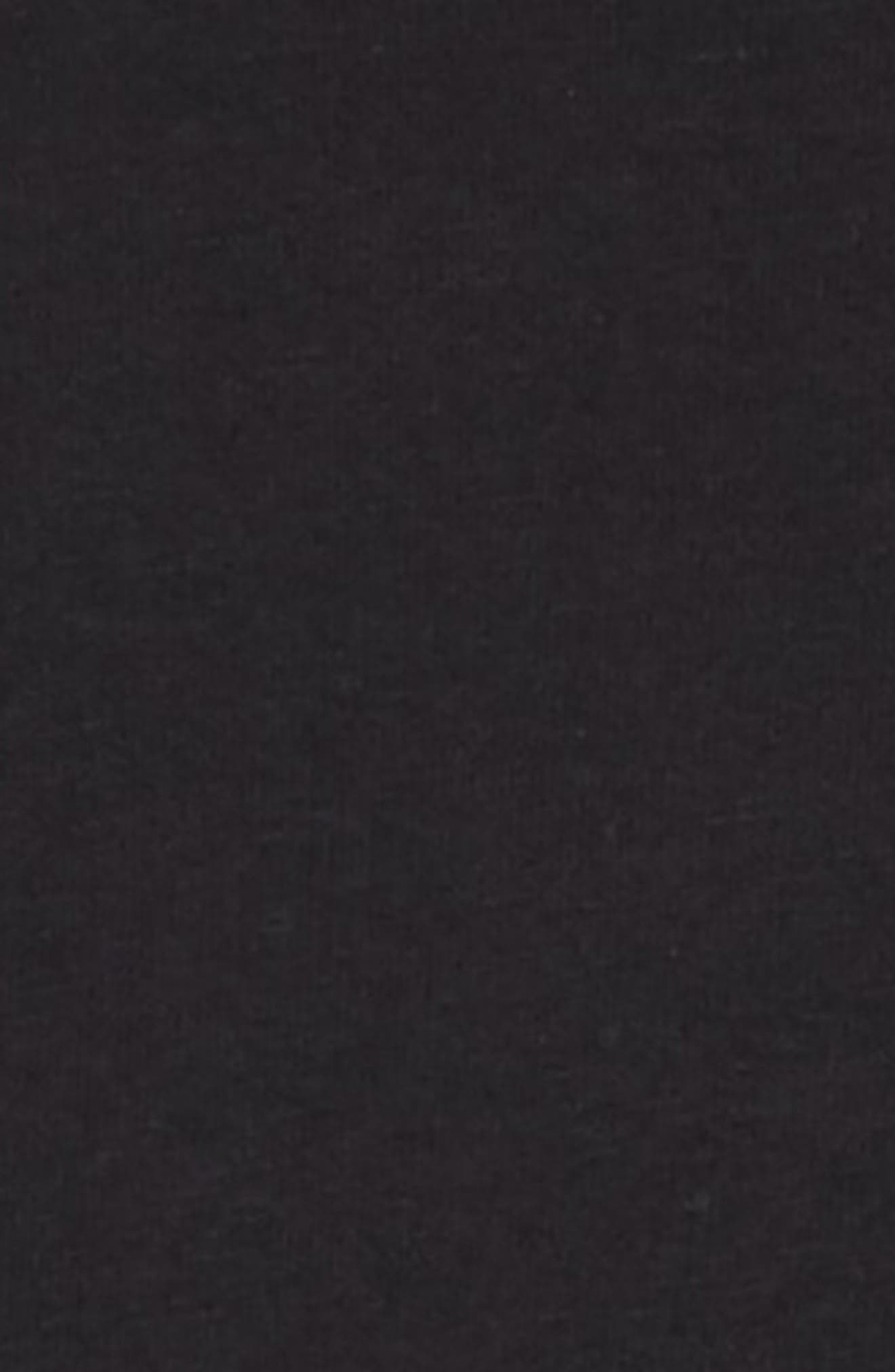 Stripe Dress,                             Alternate thumbnail 3, color,                             BLACK