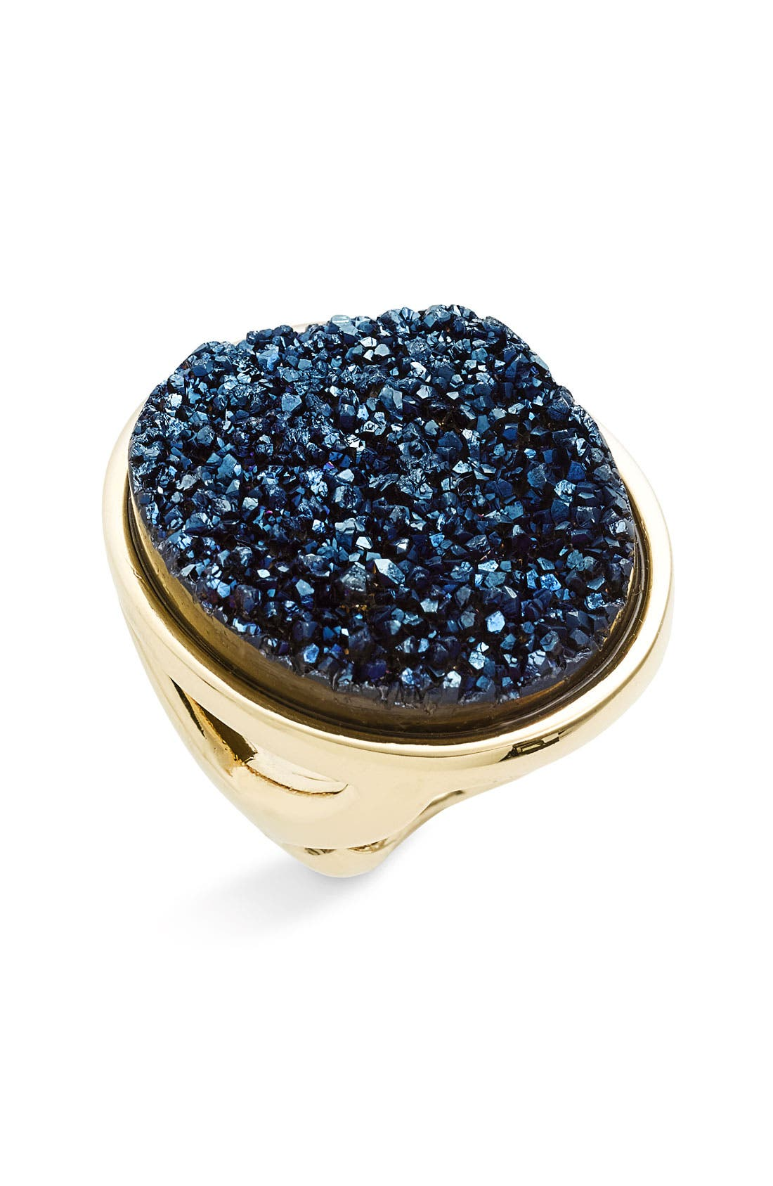 Large Oval Drusy Ring,                         Main,                         color, 400