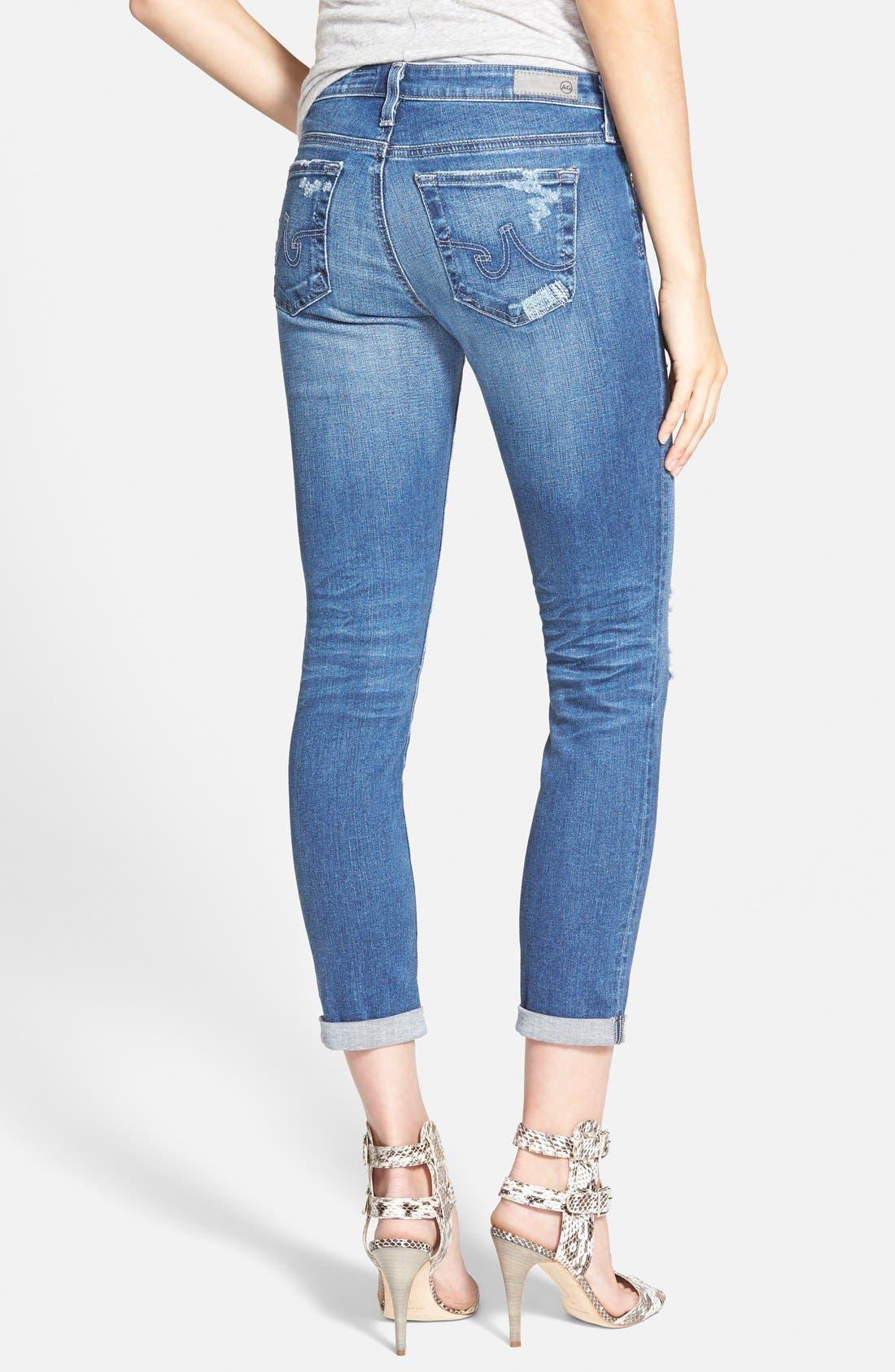 'The Stilt' Roll Cuff Skinny Jeans,                             Alternate thumbnail 2, color,                             400