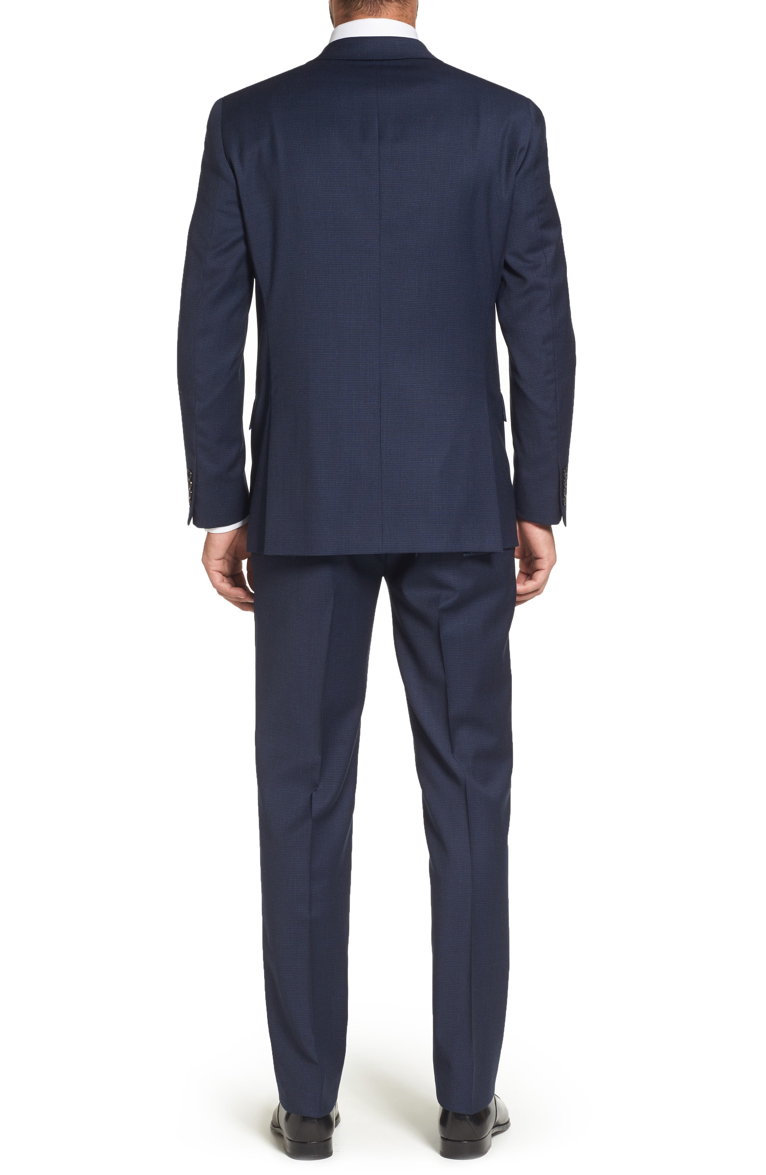Classic Fit Check Stretch Wool Suit,                             Alternate thumbnail 2, color,                             401