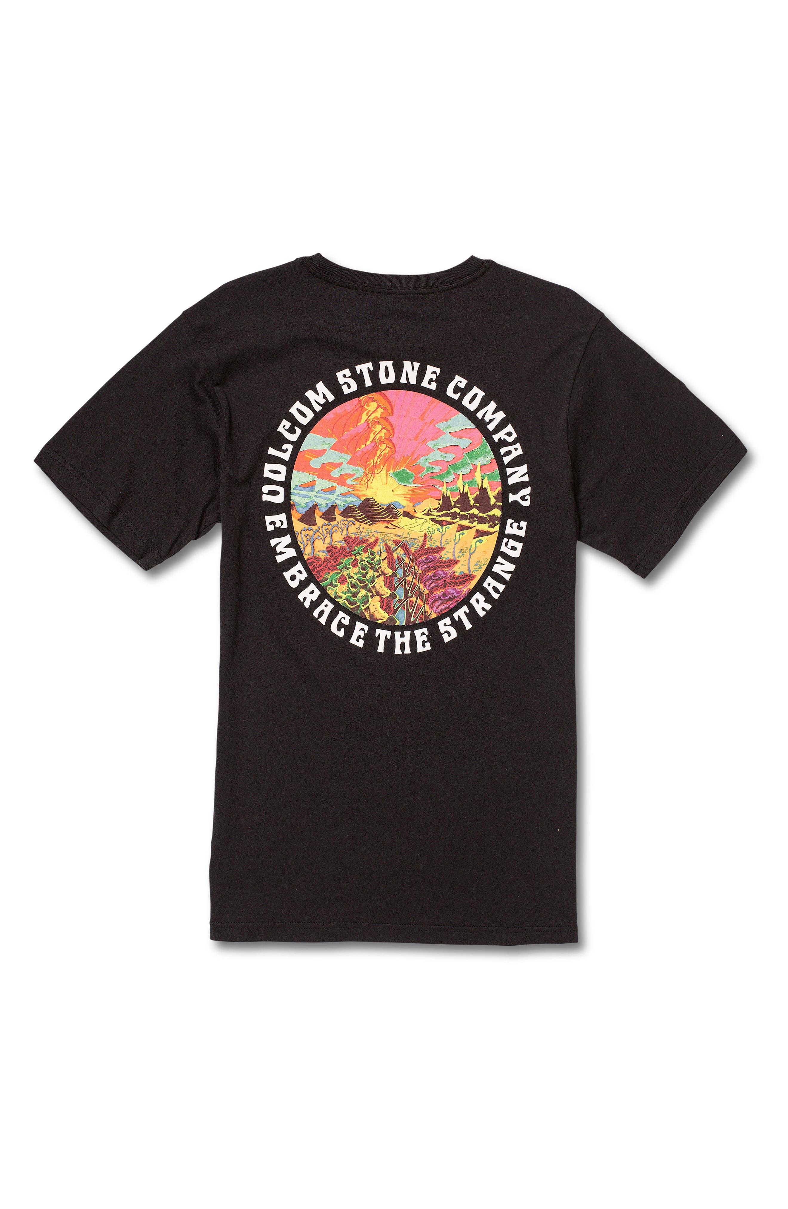 VOLCOM,                             Voleidospoica T-Shirt,                             Alternate thumbnail 2, color,                             BLACK