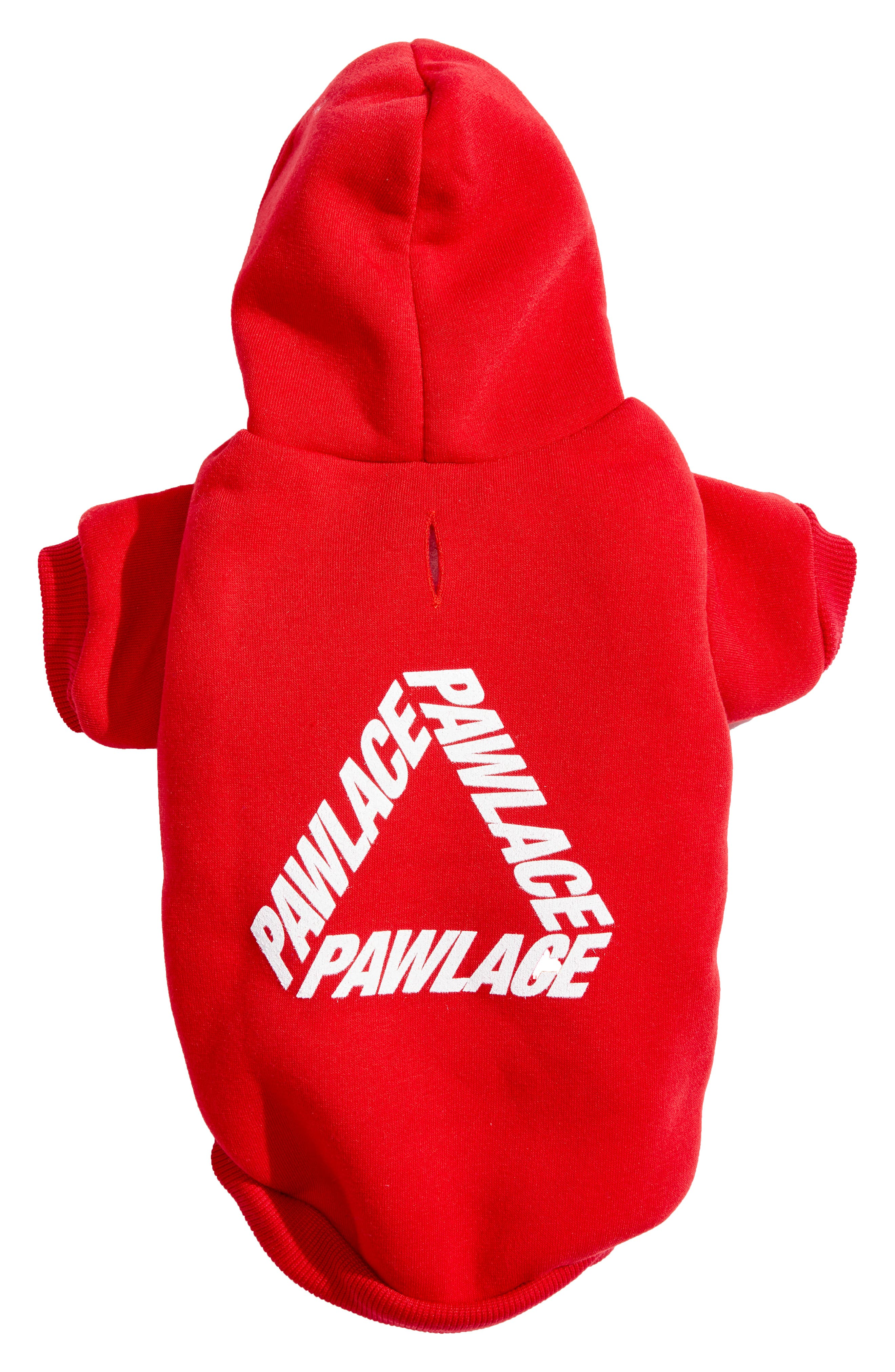 Pawlace Dog Hoodie,                         Main,                         color, RED