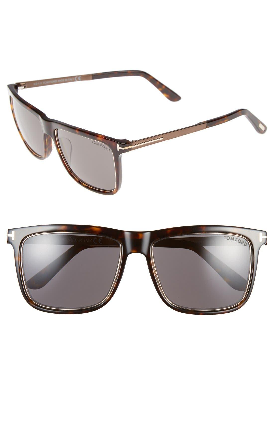 'Karlie' 57mm Retro Sunglasses,                             Main thumbnail 2, color,