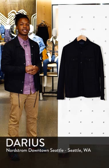 Seymour Regular Fit Wool Blend Shirt Jacket, sales video thumbnail