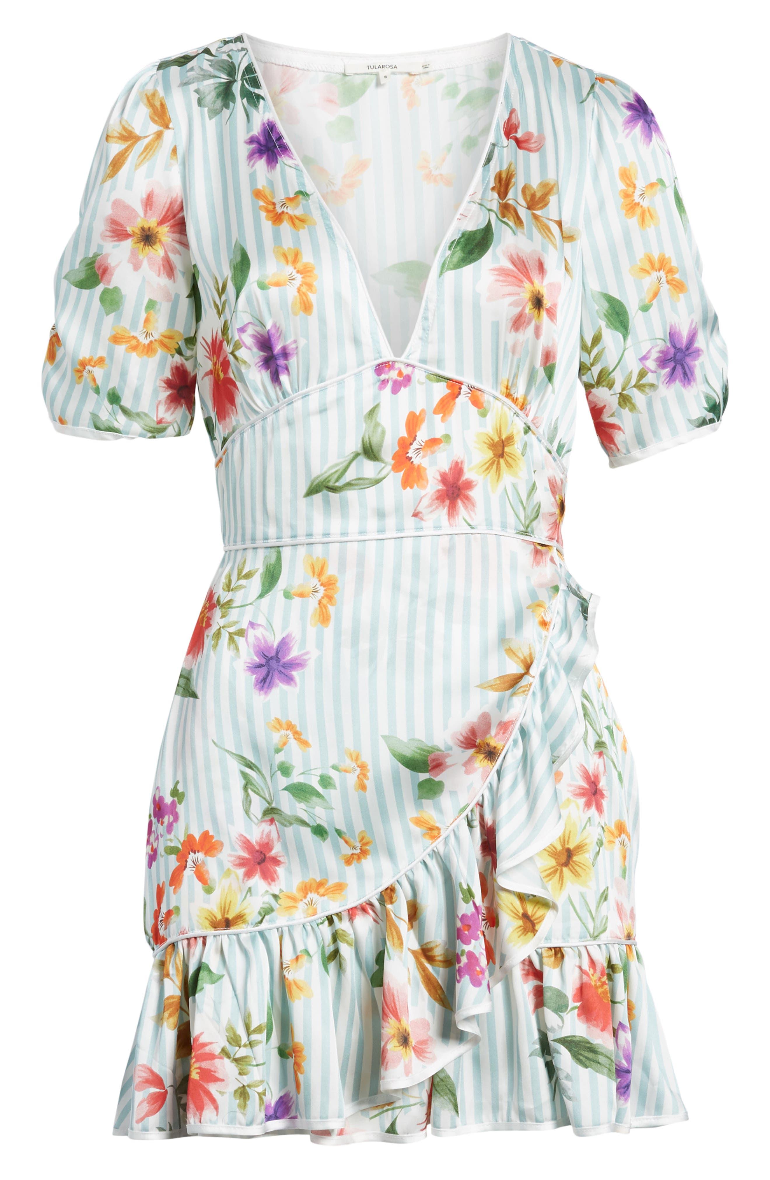 Barb Ruffle Dress,                             Alternate thumbnail 6, color,                             400