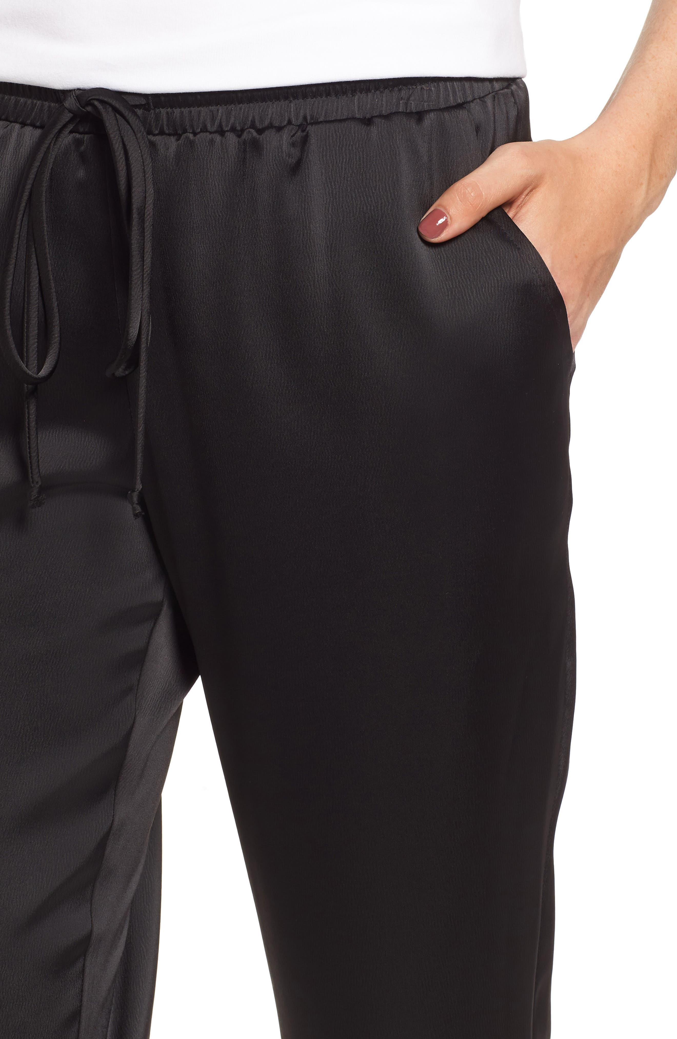 x Glam Squad Simple Jogger Pants,                             Alternate thumbnail 6, color,                             BLACK