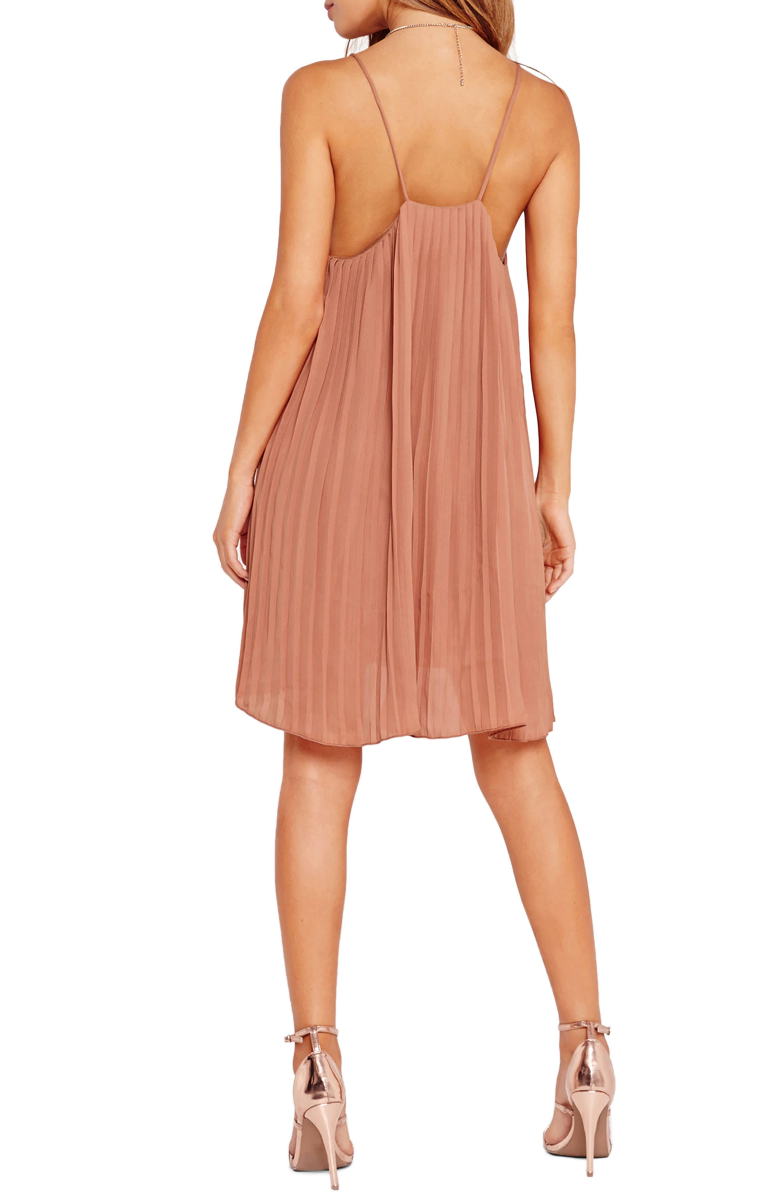 Pleated Swing Dress,                             Alternate thumbnail 2, color,