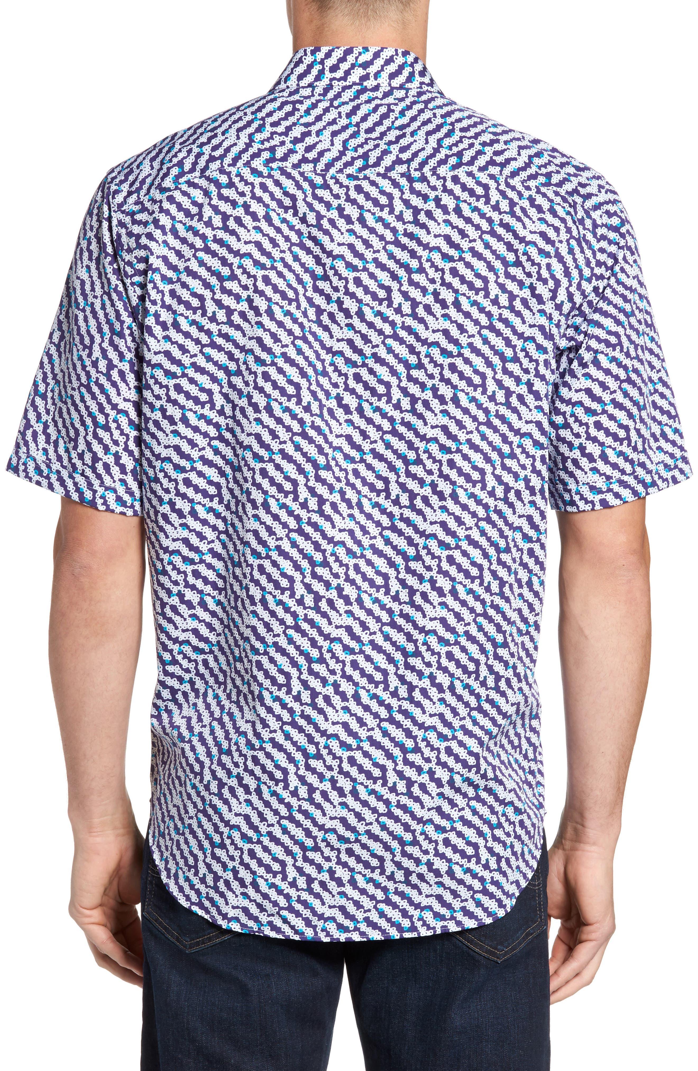Classic Fit Print Short Sleeve Sport Shirt,                             Alternate thumbnail 2, color,                             411