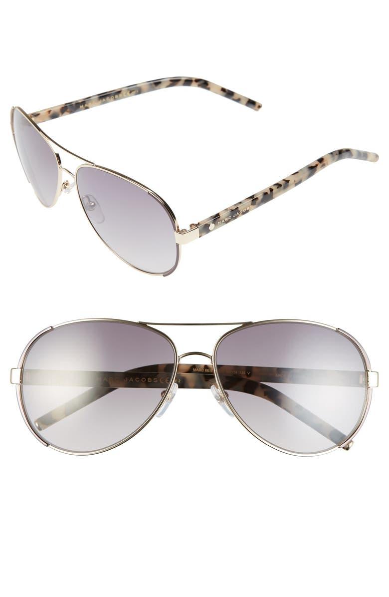 95e4cdf5f05 MARC JACOBS 60mm Oversize Aviator Sunglasses