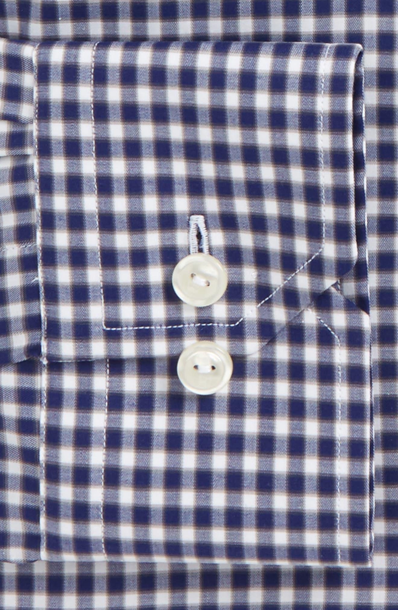 Contemporary Fit Check Dress Shirt,                             Alternate thumbnail 4, color,