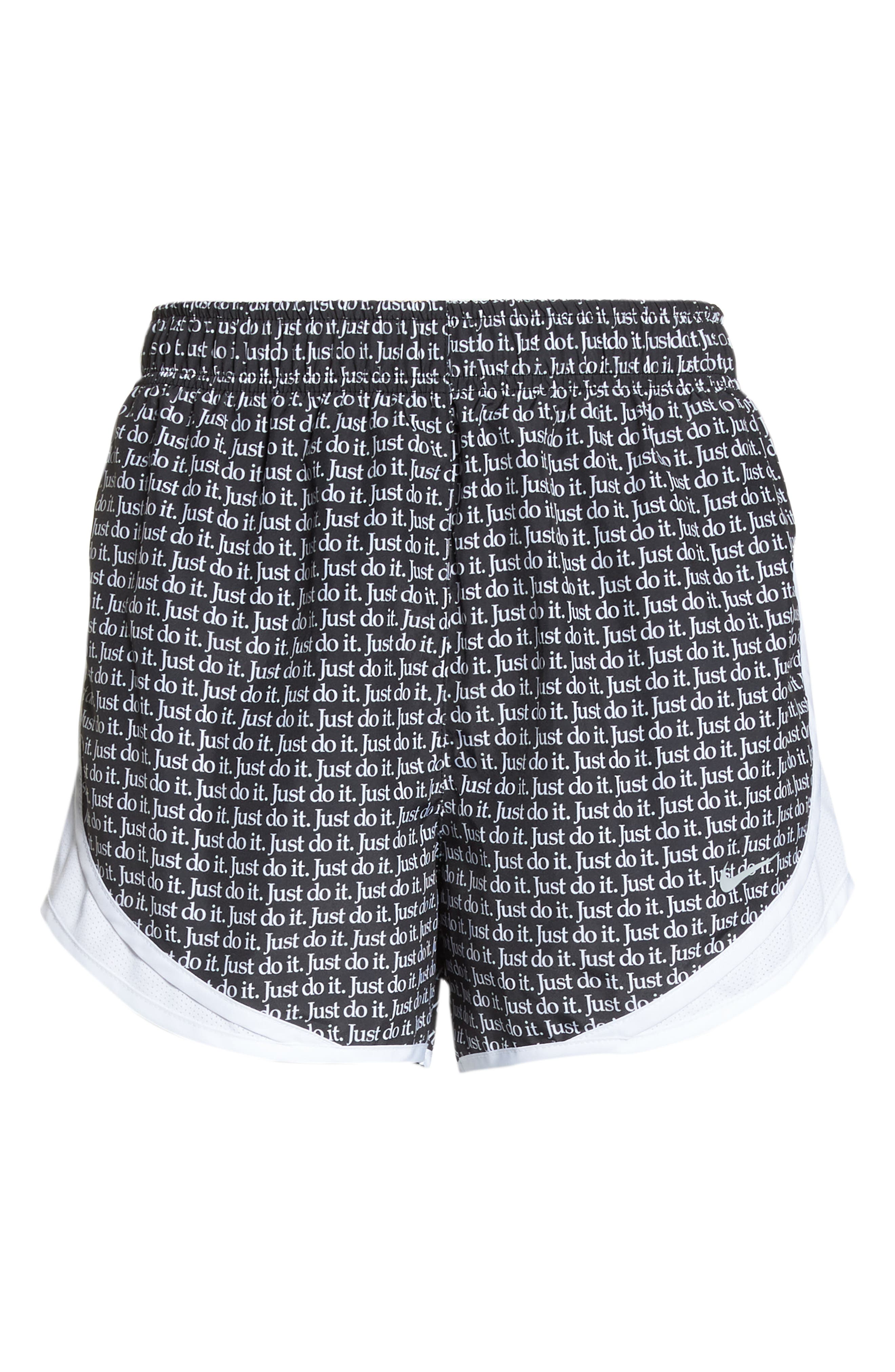 Dry Tempo Just Do It Running Shorts,                             Alternate thumbnail 7, color,                             BLACK/ WHITE/ WHITE/ WOLF GREY